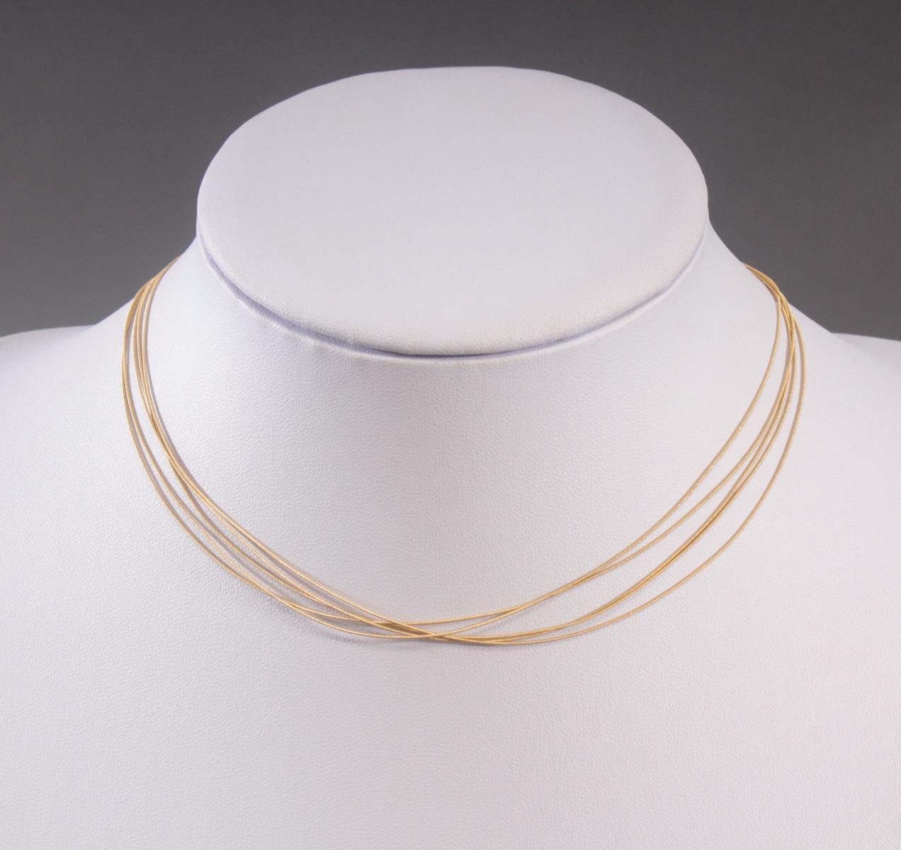 5-reihige Halskette aus 18 Karat Gelbgold