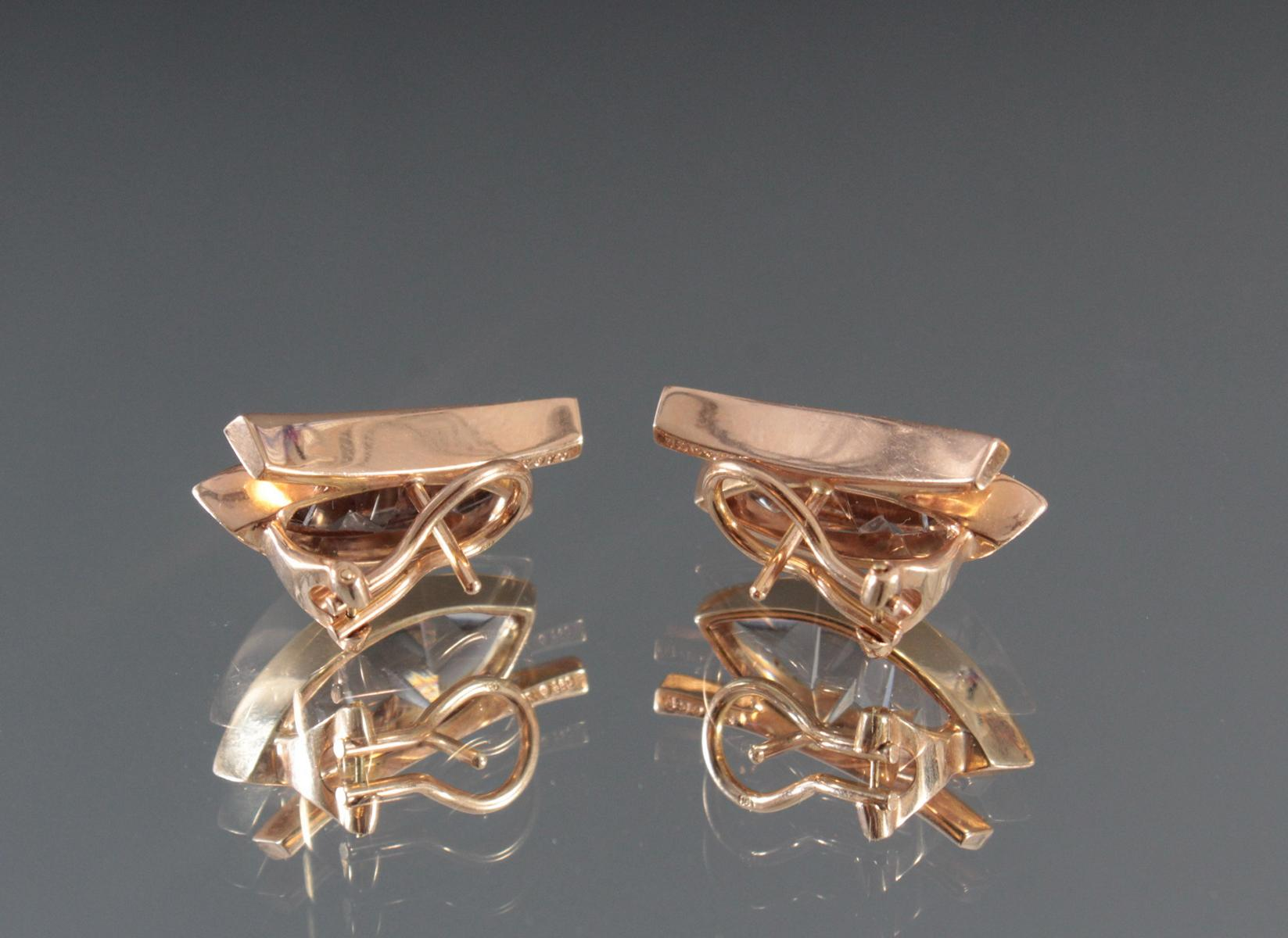 Paar Ohrringe aus 18 Karat Gelbgold-2