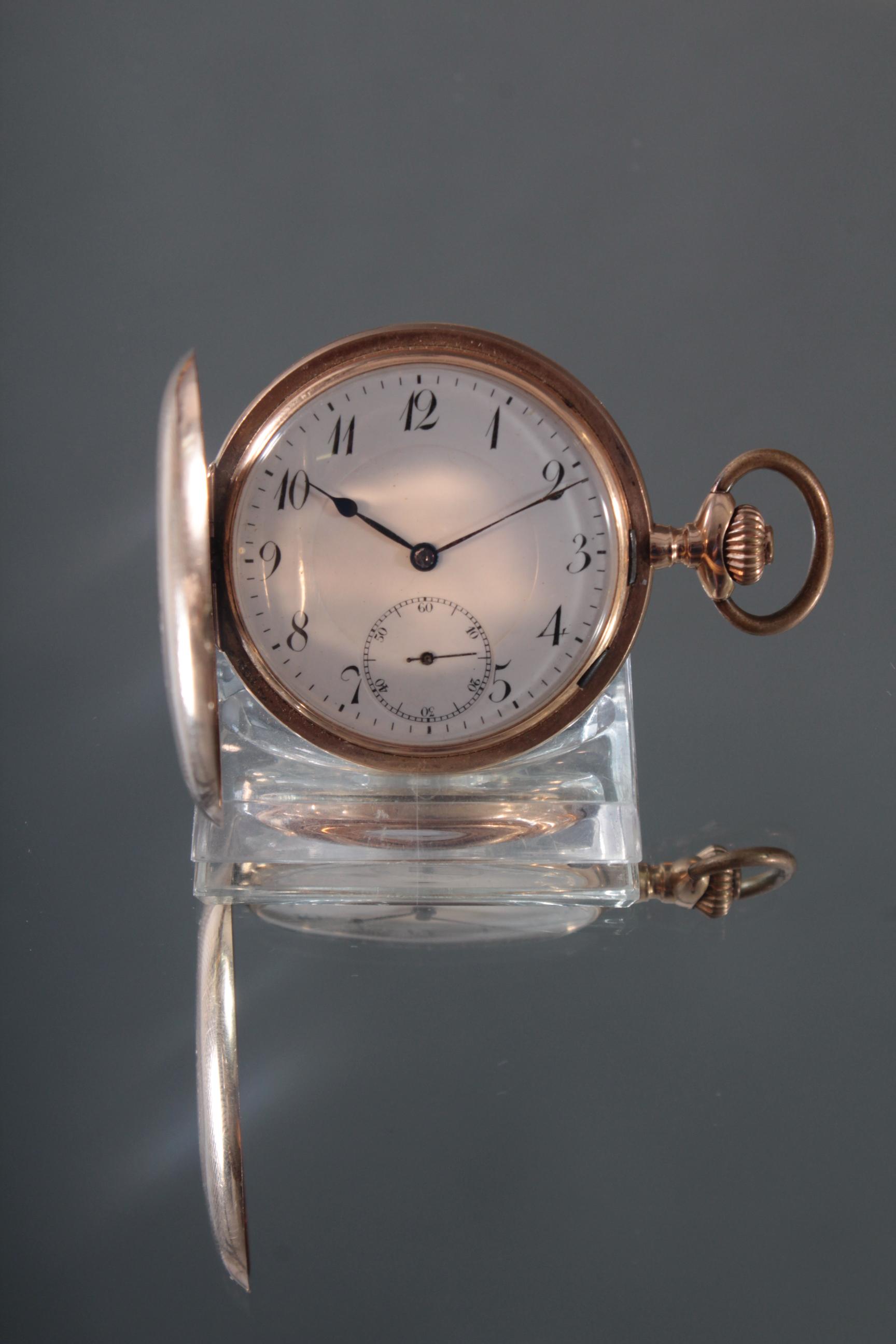 Herrentaschenuhr aus 14 Karat Gold um 1900