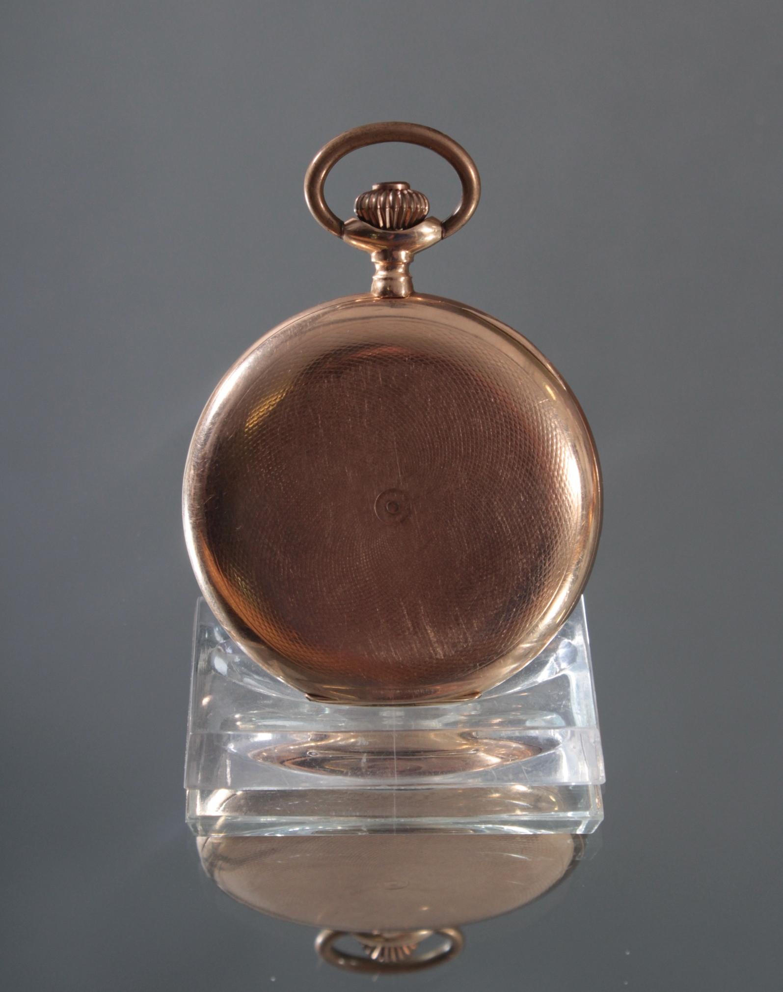 Herrentaschenuhr aus 14 Karat Gold um 1900-3