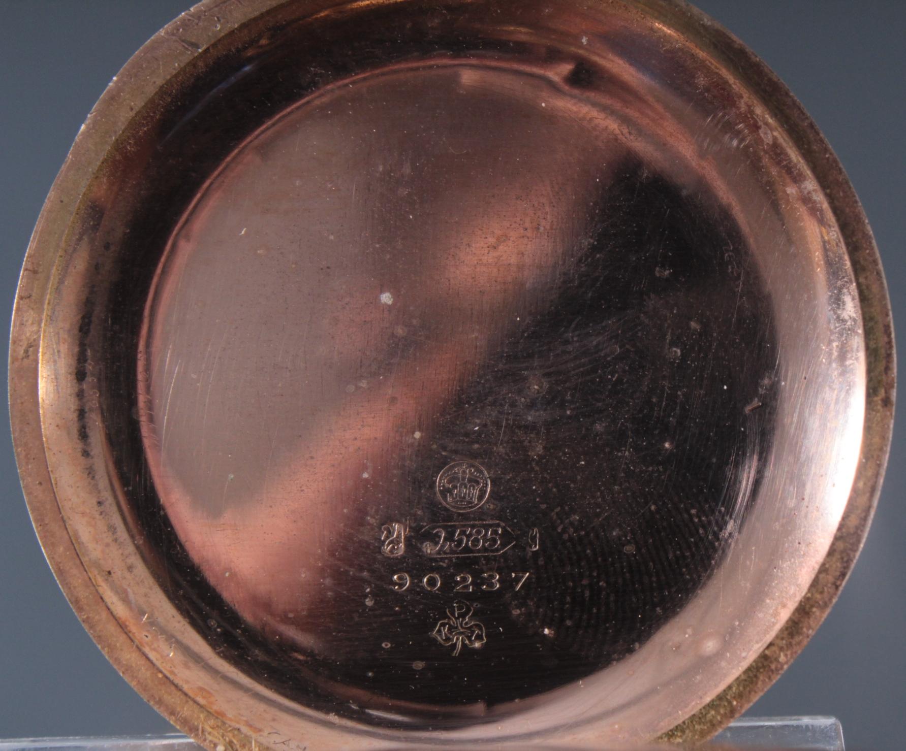 Herrentaschenuhr aus 14 Karat Gold um 1900-4