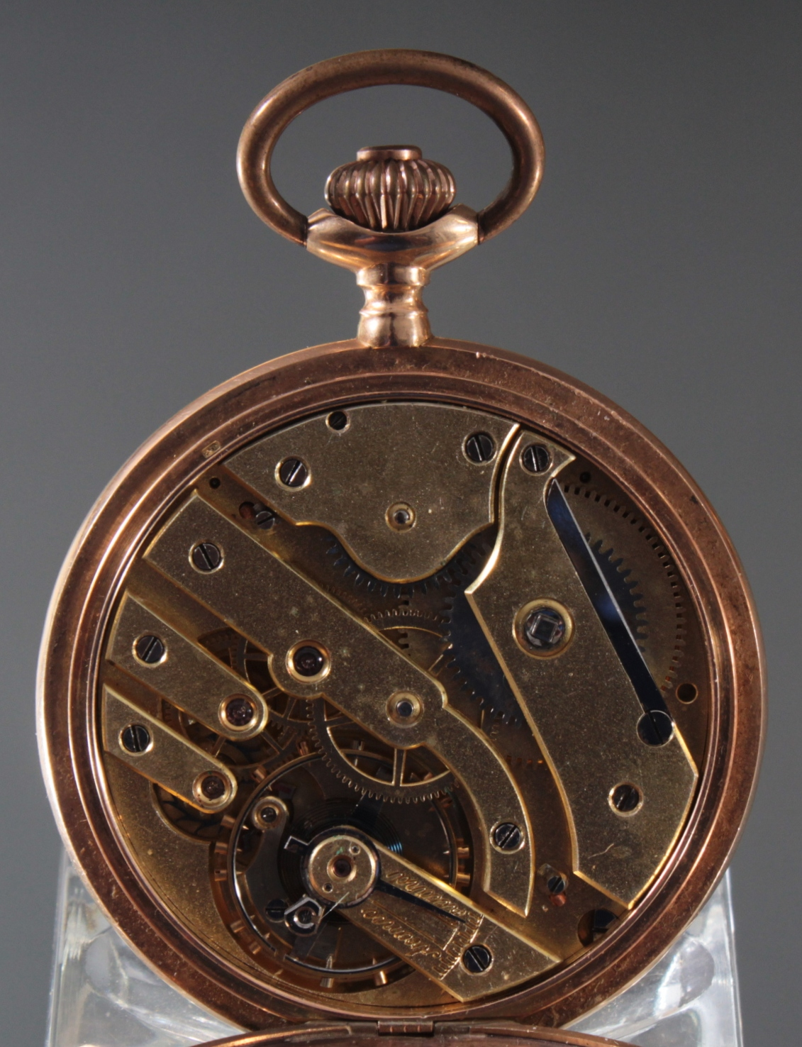 Herrentaschenuhr aus 14 Karat Gold um 1900-5