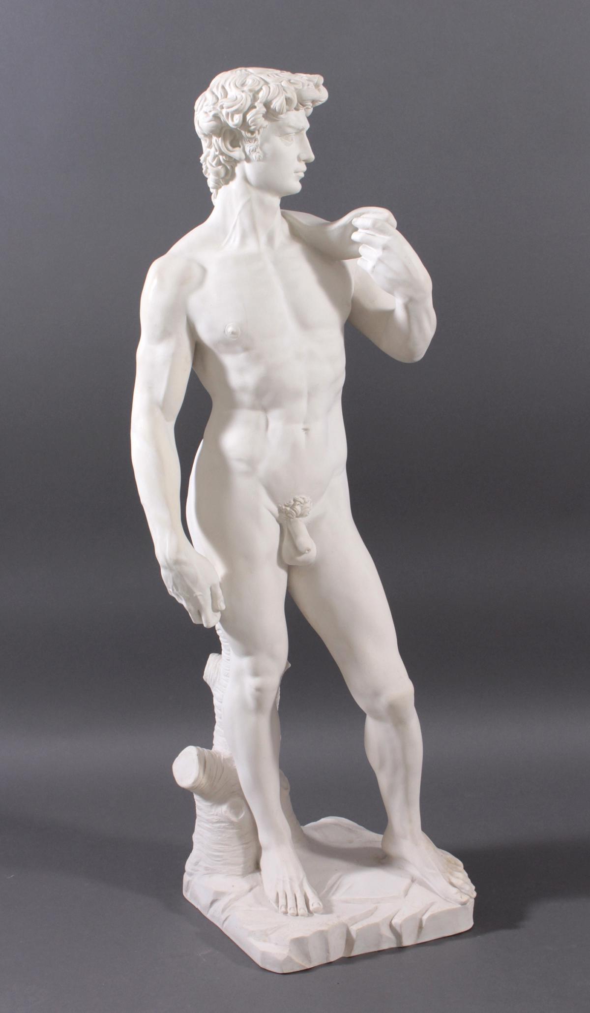 Kunstmarmor-Skulptur, 'David'-2