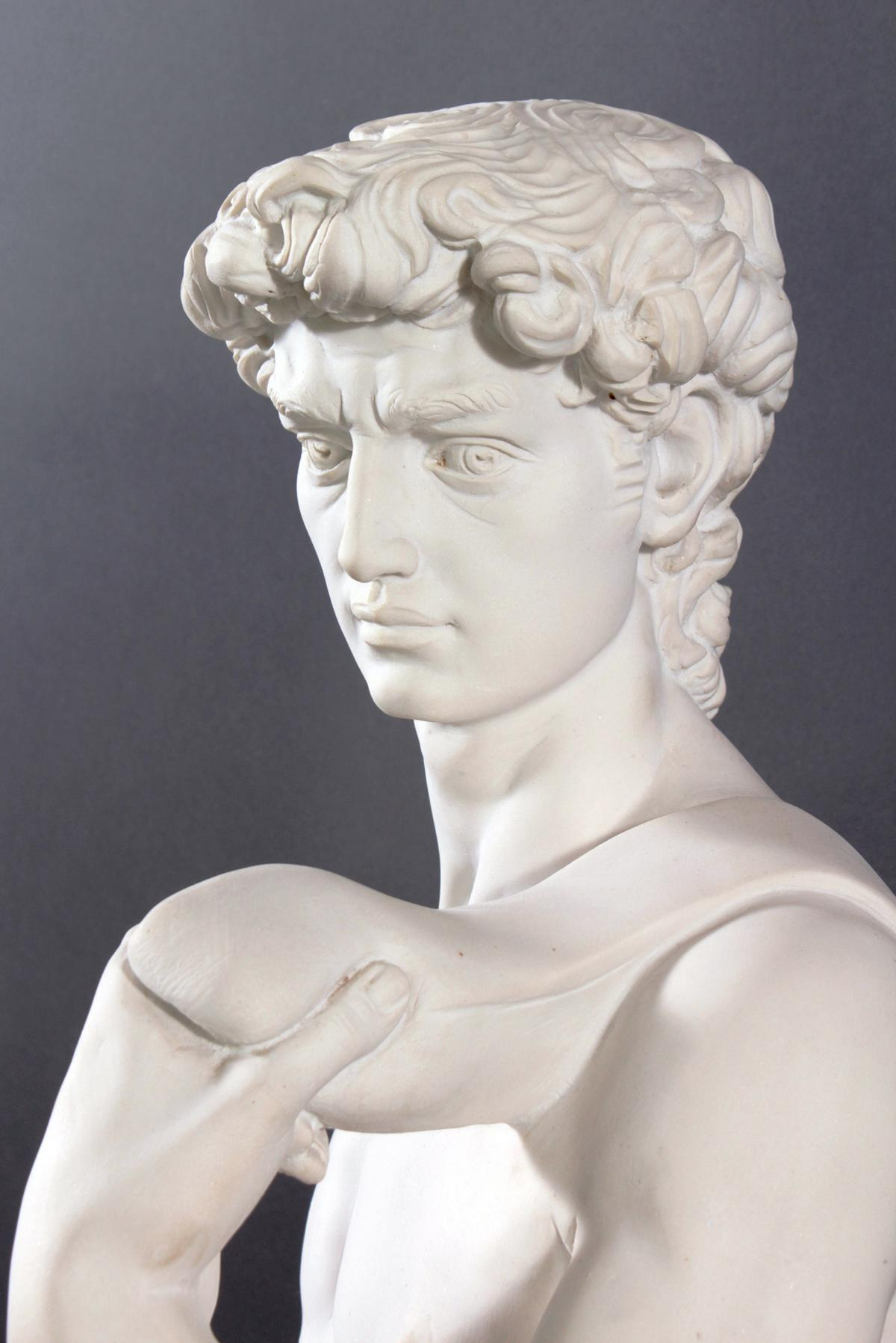 Kunstmarmor-Skulptur, 'David'-4