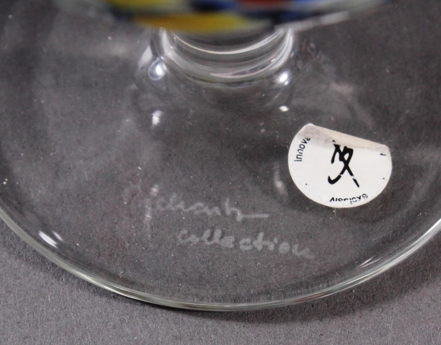 Behrendsohn Designerglas, 2 Anbietschalen und Kelch-3