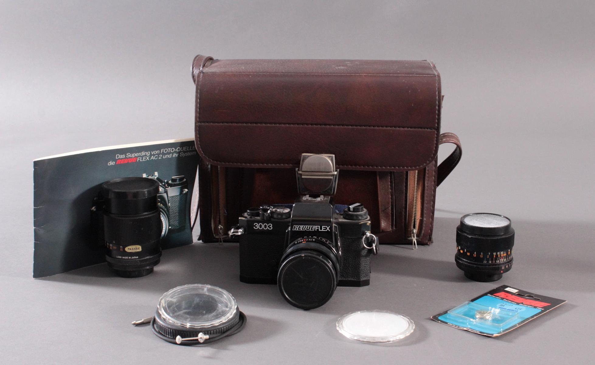 Revueflex 3003 mit Zubehör und Fototasche