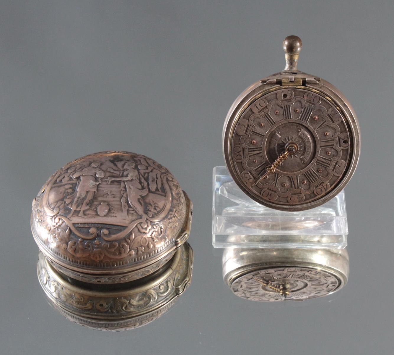 Spindeluhr, Roget London, um 1750-4