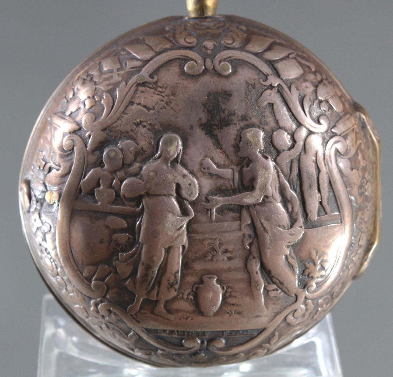 Spindeluhr, Roget London, um 1750-7