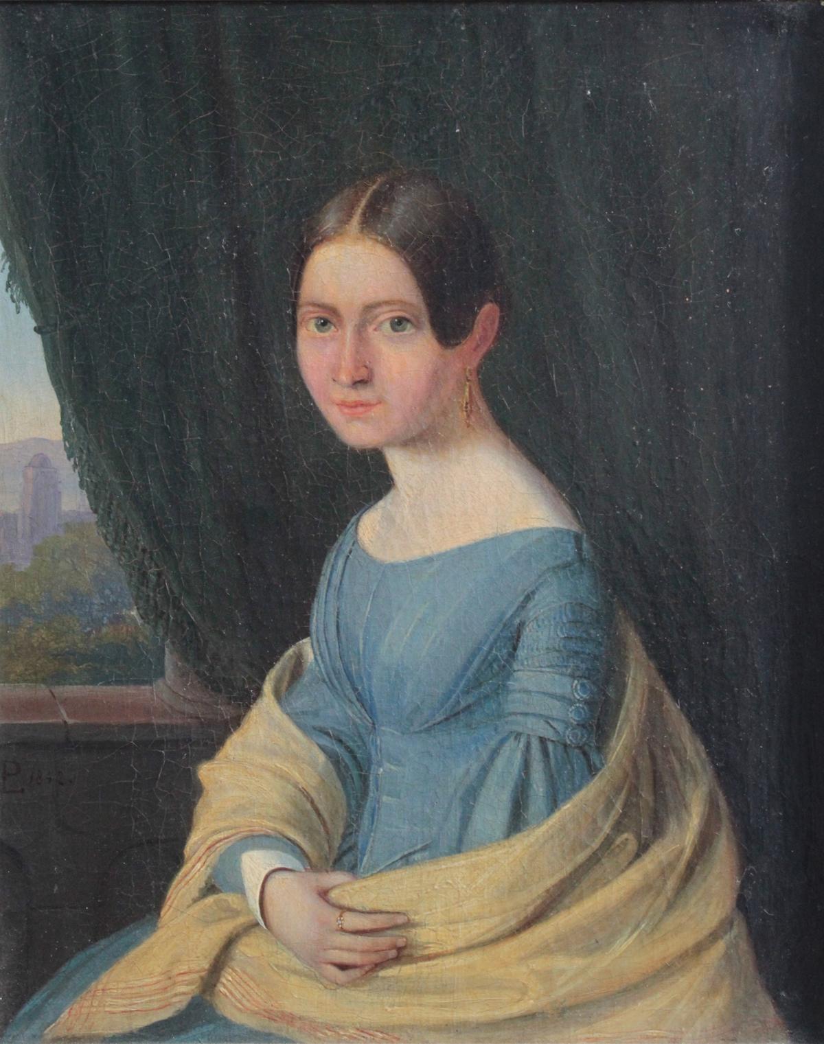 Frauenbildnis des 19. Jahrhunderts-2