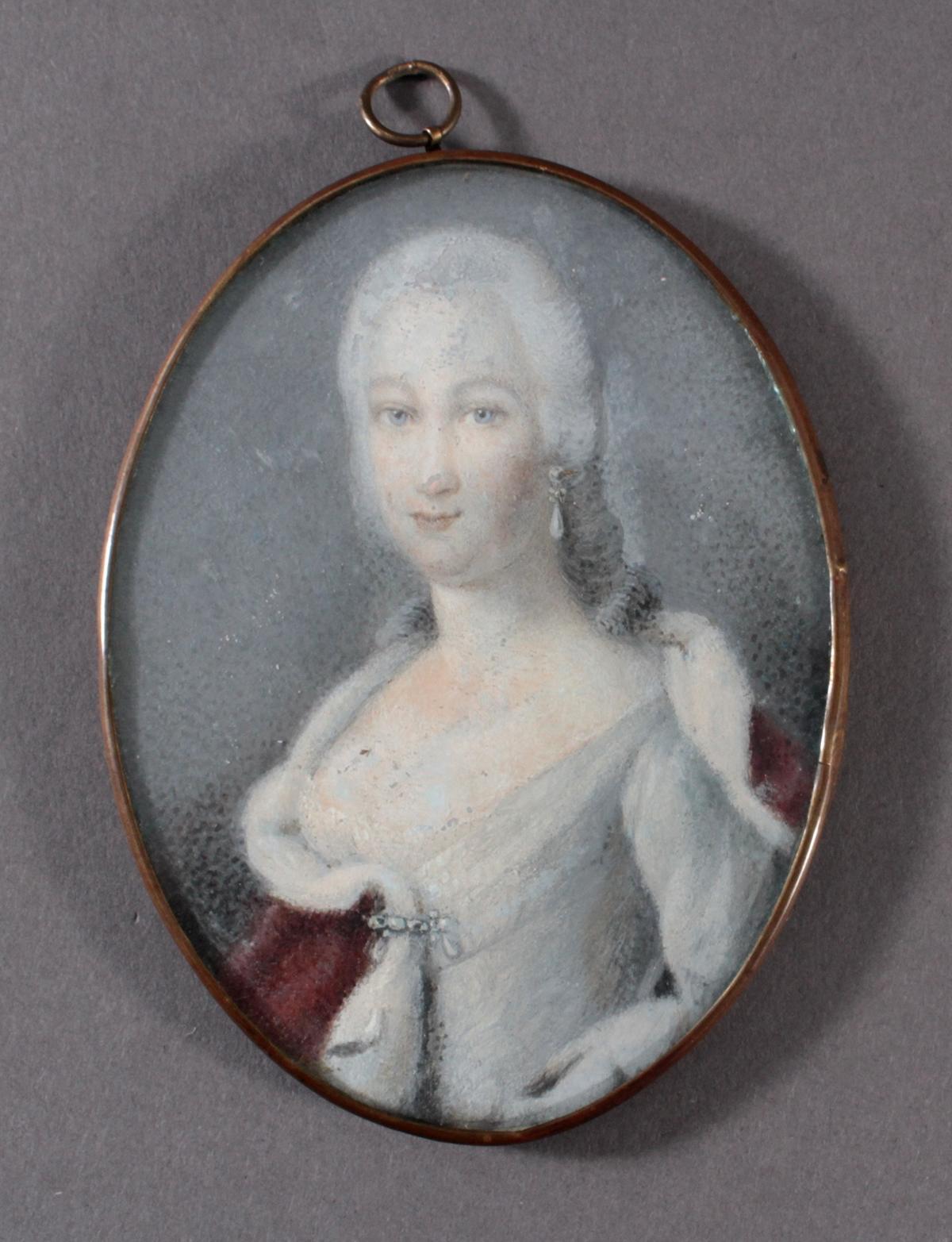 Die junge Karoline Henriette von Pfalz-Zweibrücken (1721 – 1774). Miniaturportrait