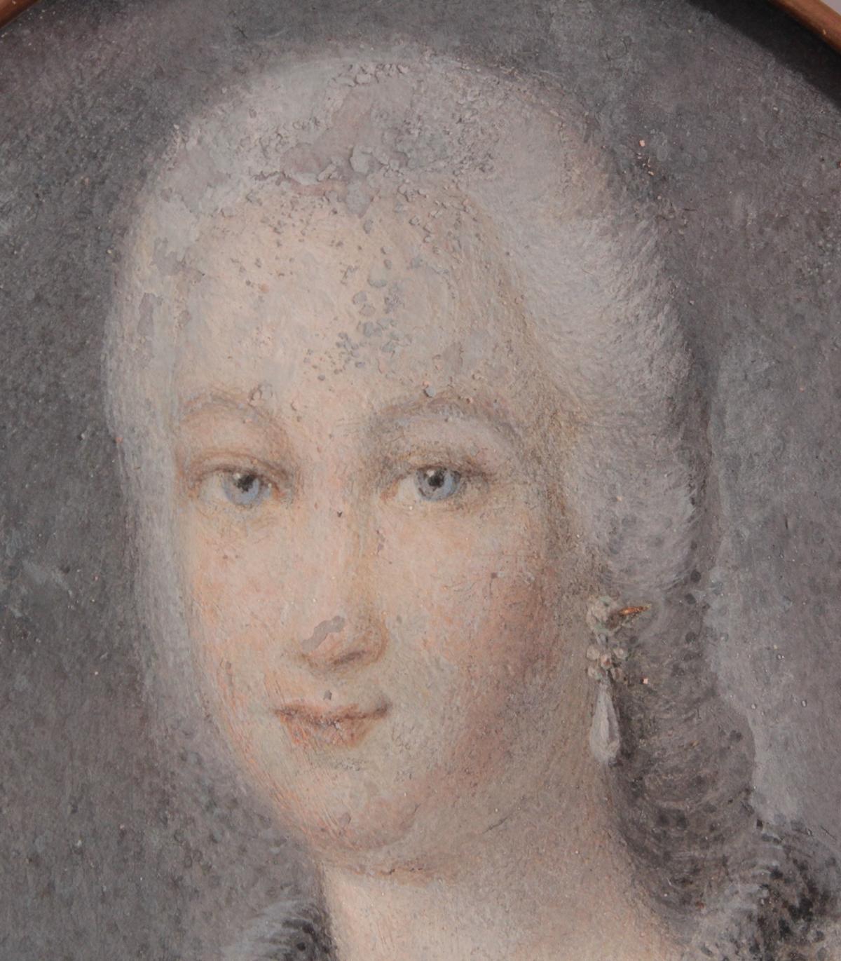 Die junge Karoline Henriette von Pfalz-Zweibrücken (1721 – 1774). Miniaturportrait-2