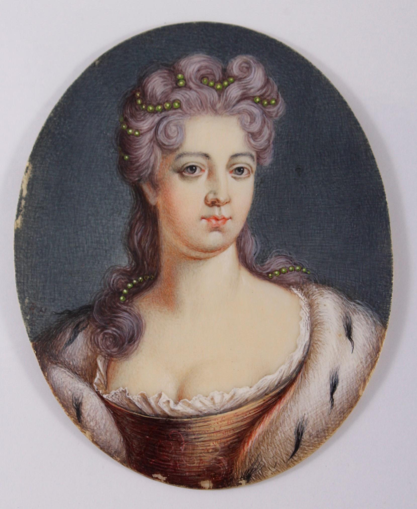 Miniaturportrait des 18. Jahrhunderts