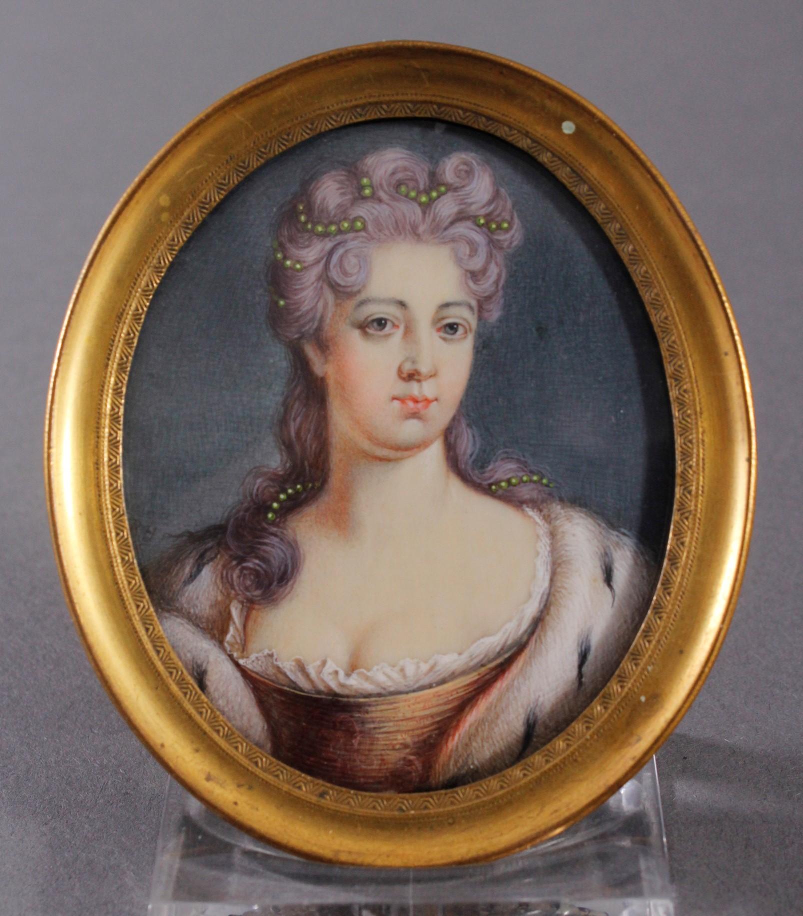Miniaturportrait des 18. Jahrhunderts-3