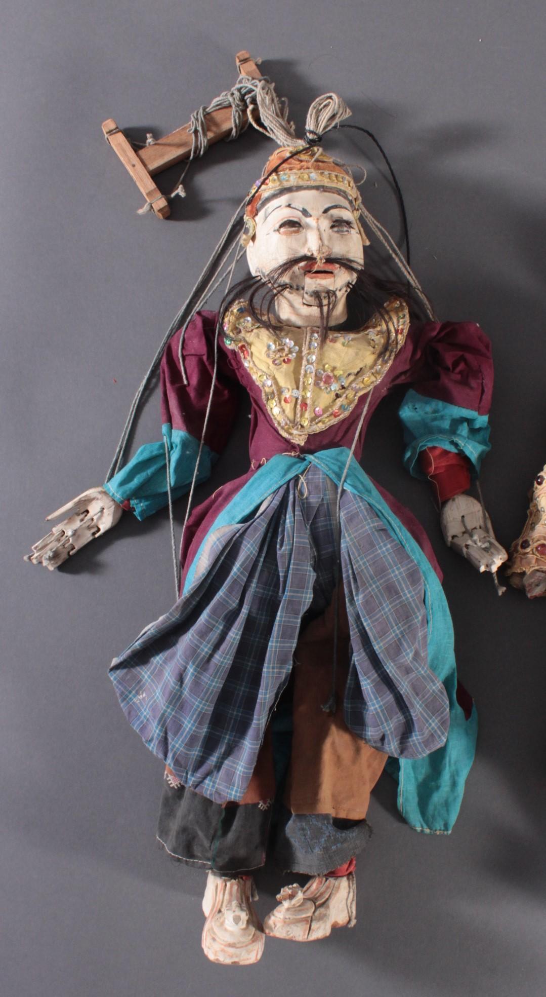 Paar indonesische Marionetten aus der 1. Hälfte des 19. Jh.-3