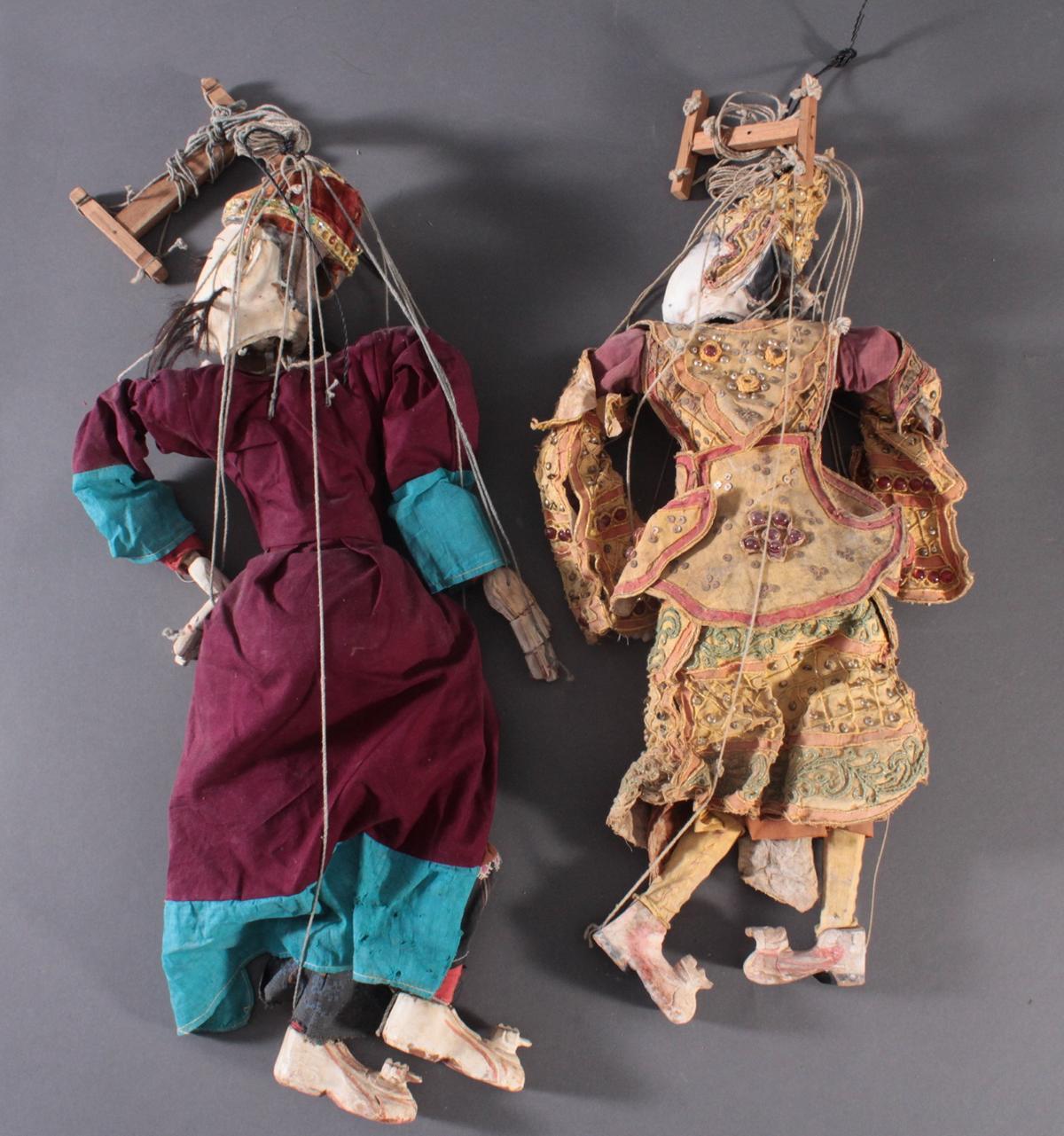 Paar indonesische Marionetten aus der 1. Hälfte des 19. Jh.-6
