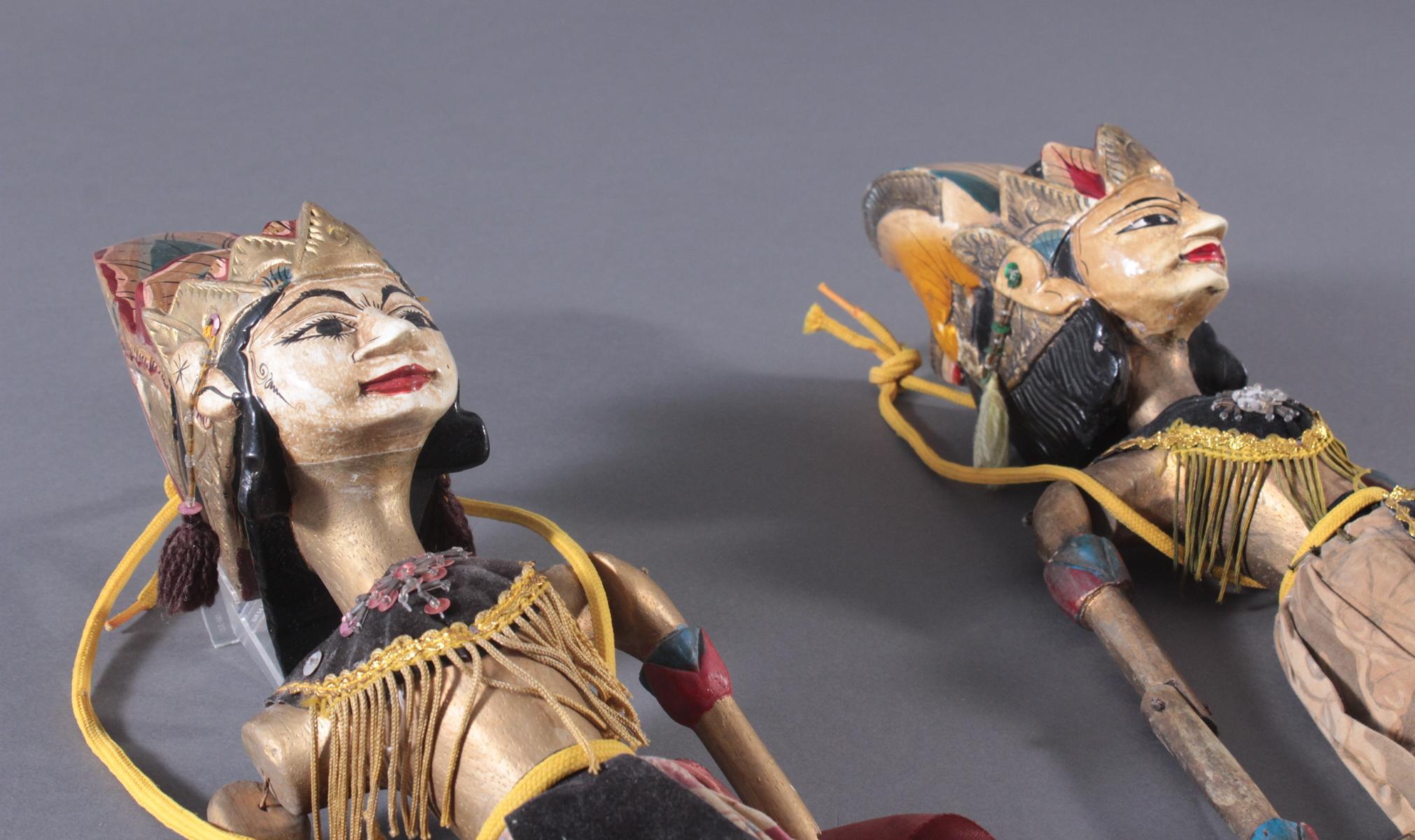 Paar indonesische Marionetten aus der 1. Hälfte des 19. Jh.-4