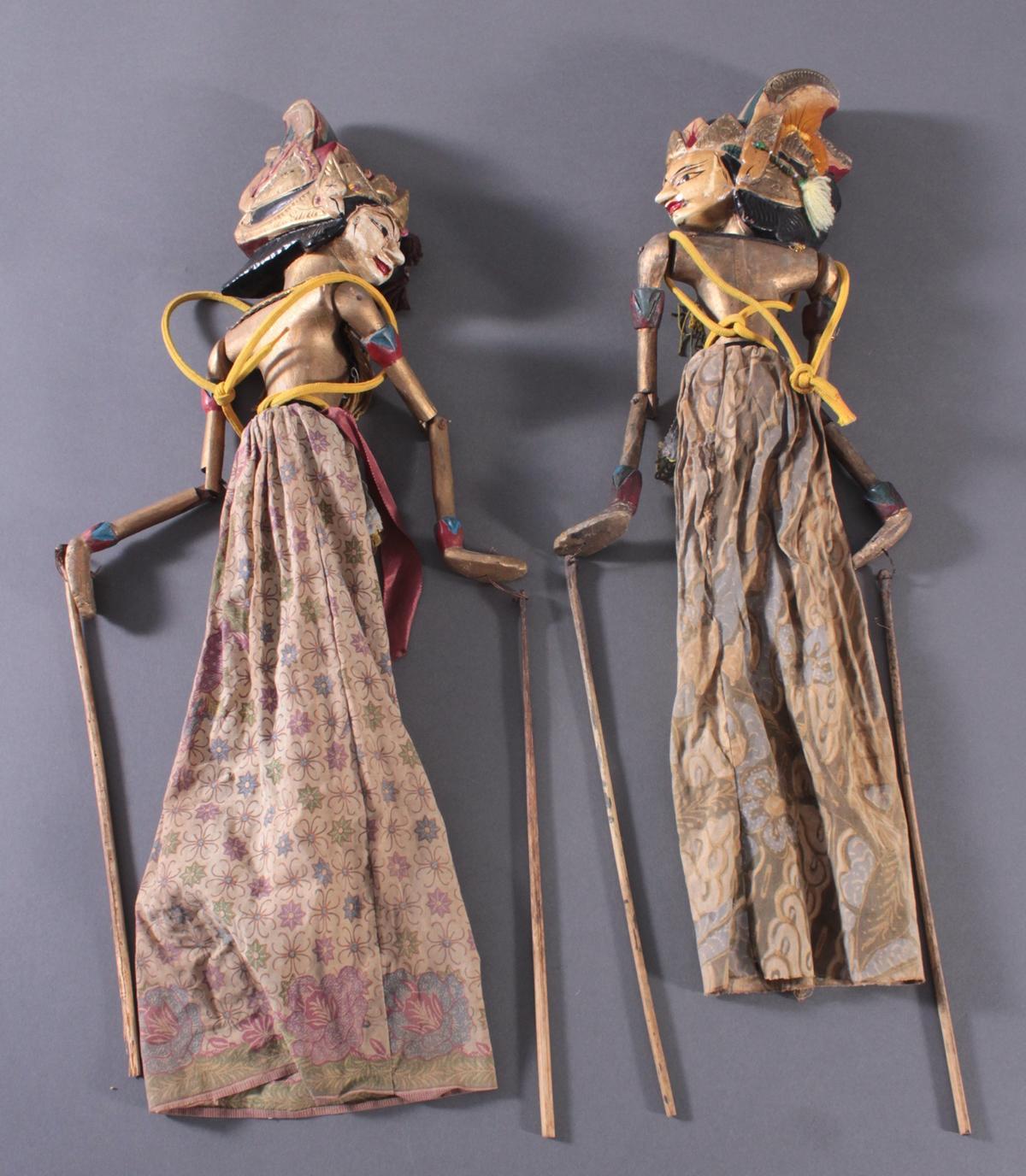 Paar indonesische Marionetten aus der 1. Hälfte des 19. Jh.-5