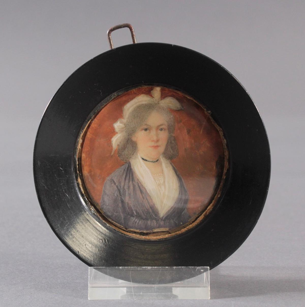 Biedermaier-Miniaturportrait, 1. Hälfte 19. Jh.