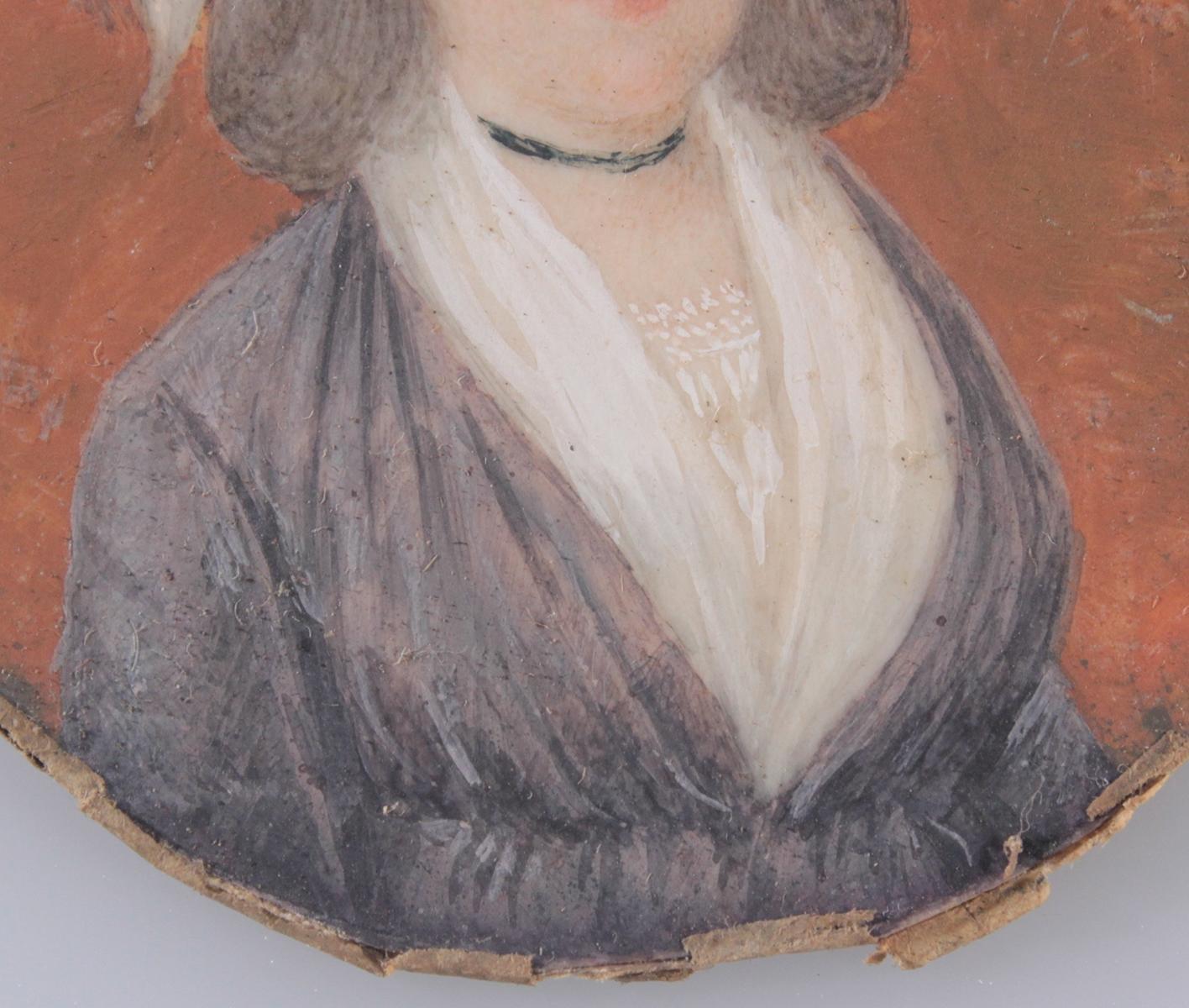 Biedermaier-Miniaturportrait, 1. Hälfte 19. Jh.-4