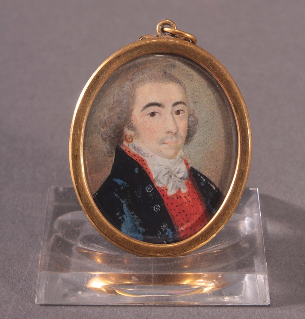 Miniaturportrait des 19. Jahrhunderts