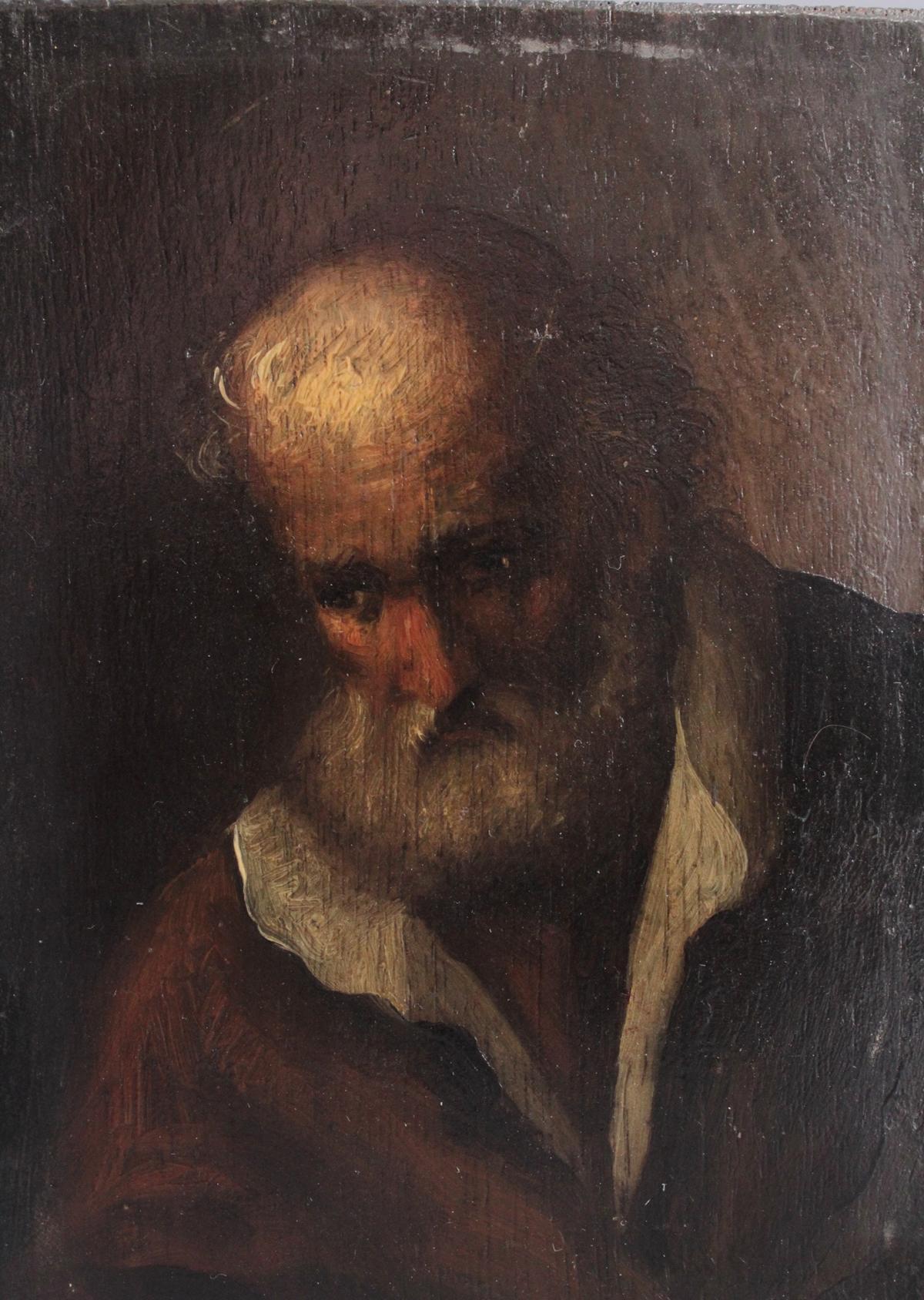 Bildnis eines bärtigen älteren Herren. 19. Jahrhundert-2
