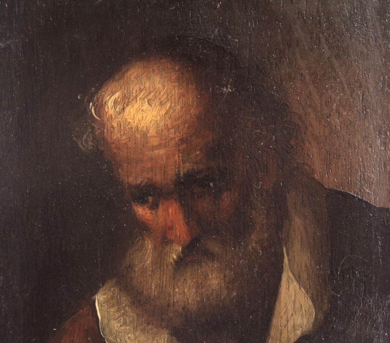 Bildnis eines bärtigen älteren Herren. 19. Jahrhundert-3