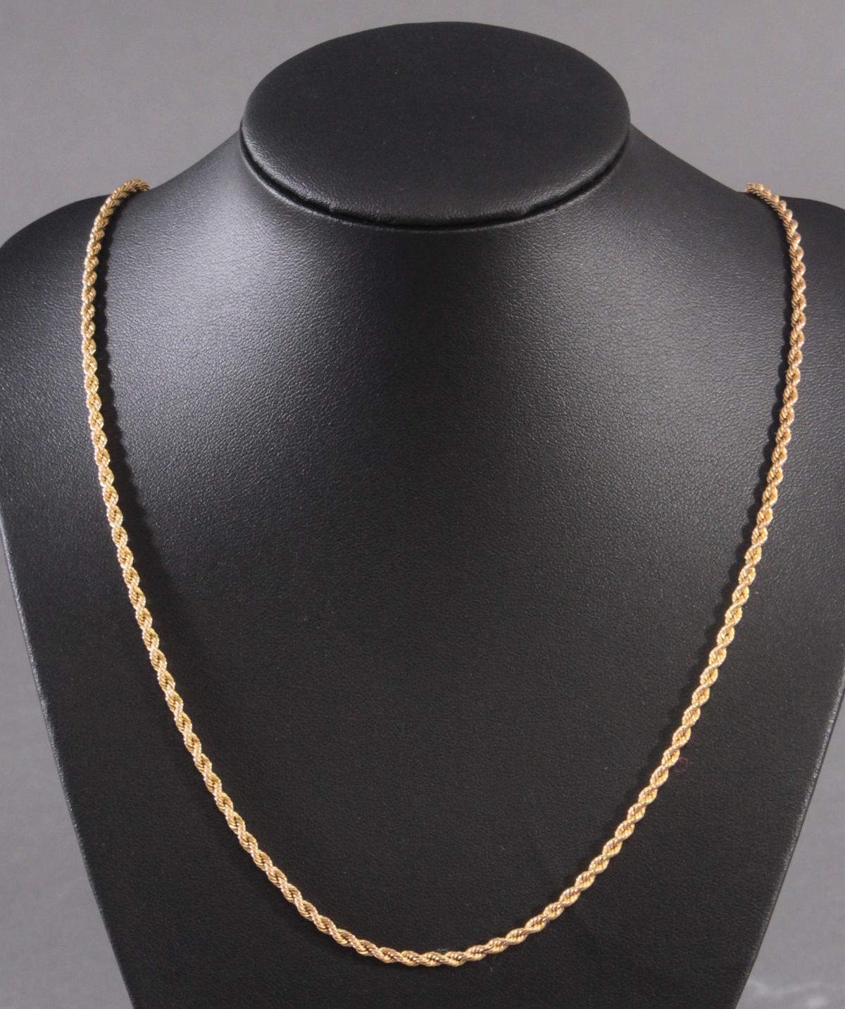 Halskette aus 14 Karat Gelbgold