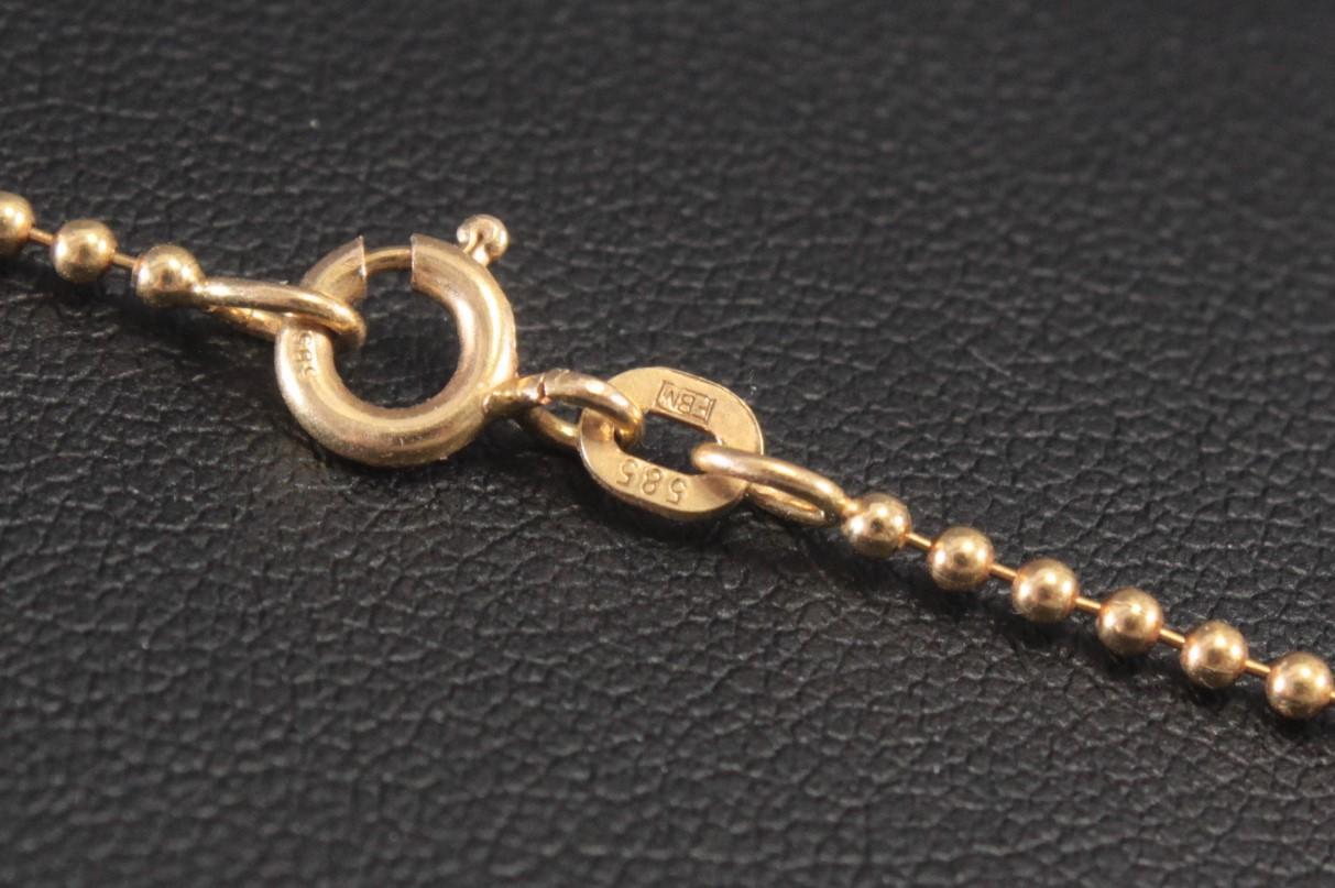 Halskette, 14 Karat Gelbgold-3