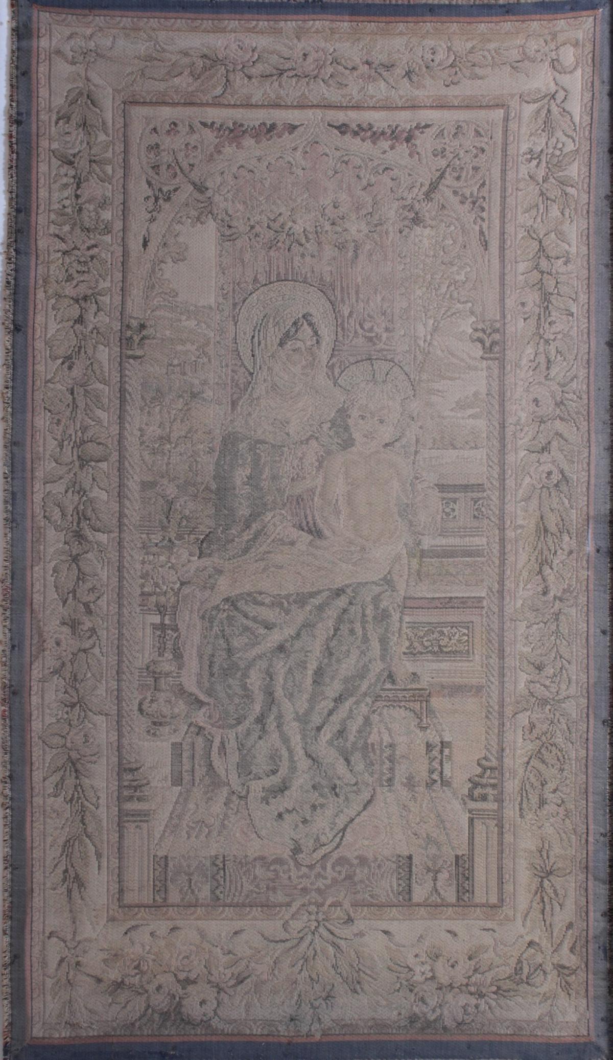 Religiöser Gobelin, 19. Jahrhundert-2