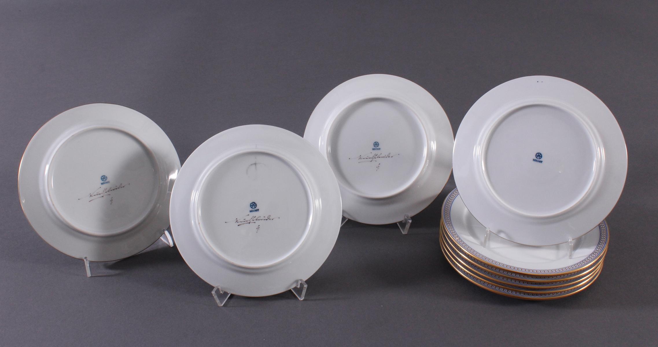 9 kleine Teller, Höchster Porzellan-Manufaktur-3