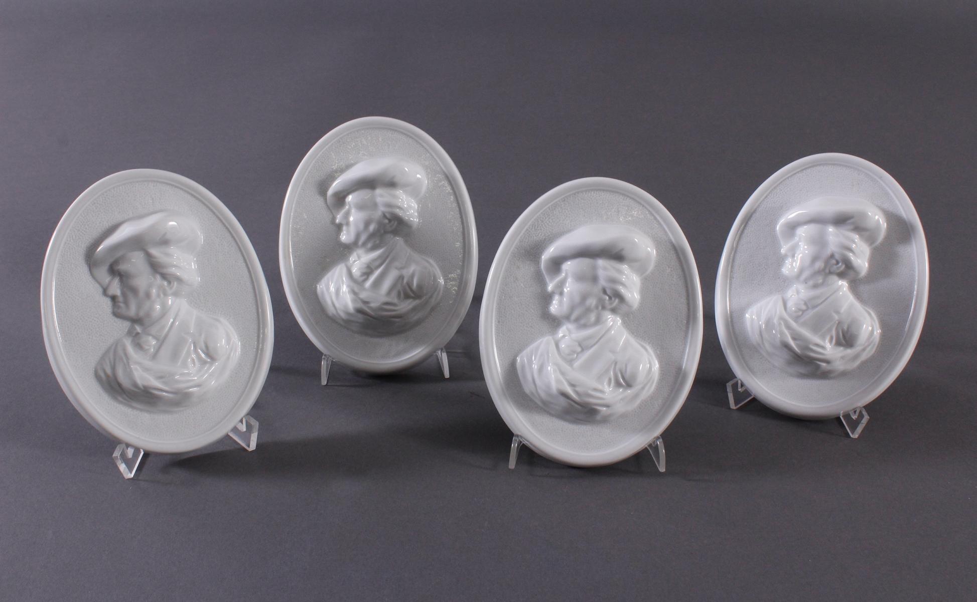 4 Porzellanplaketten 'Wagner', Höchst