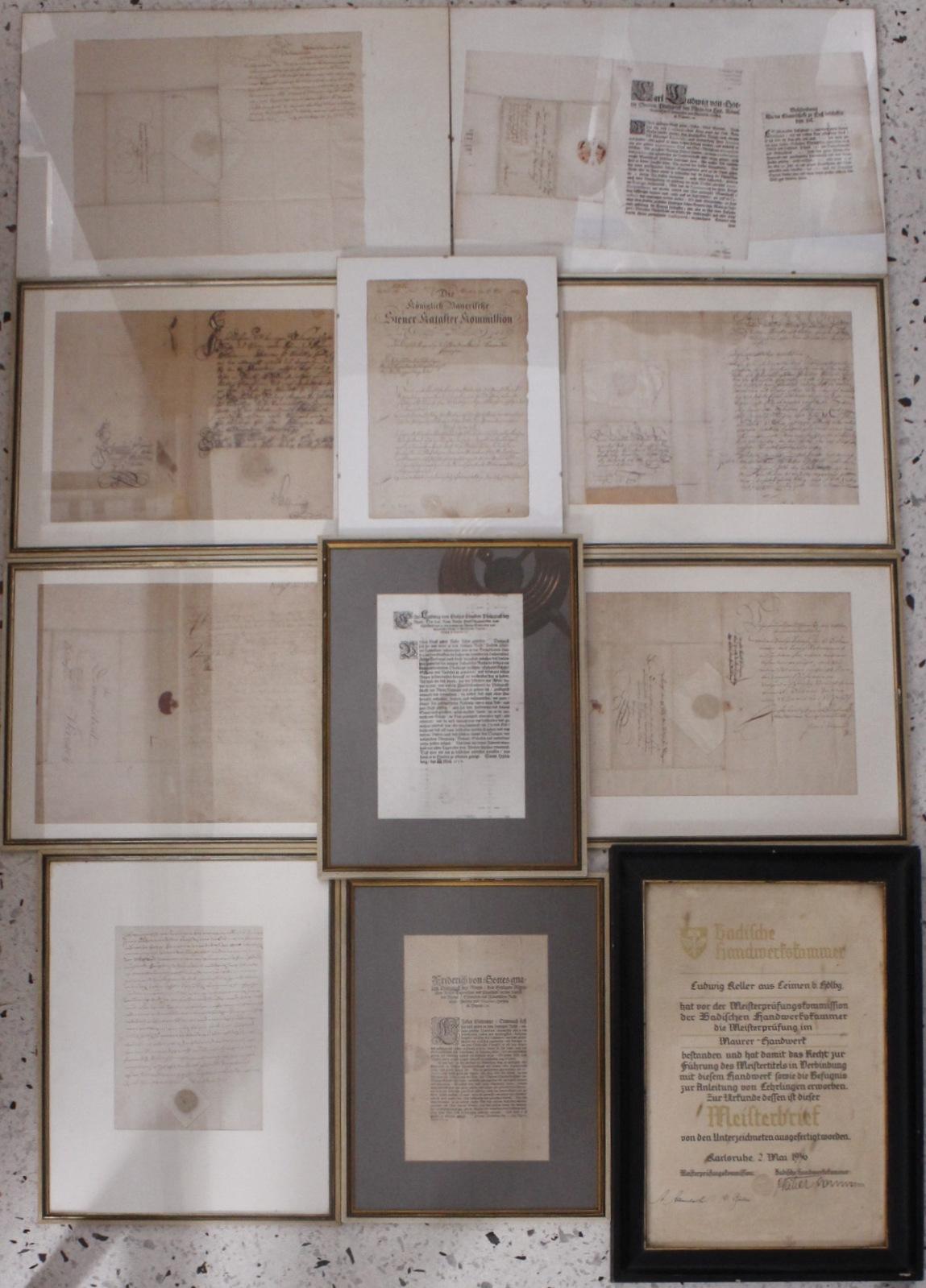 Samlung Altbriefe, Vorphilatelie, Meisterbrief und Dokumente