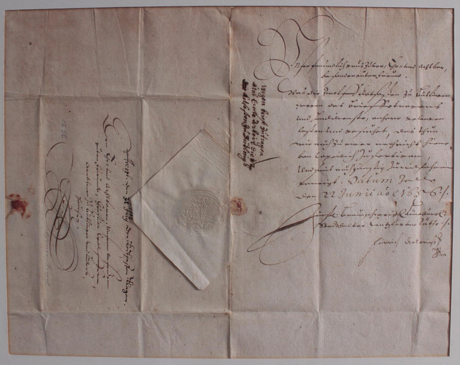 Samlung Altbriefe, Vorphilatelie, Meisterbrief und Dokumente-3