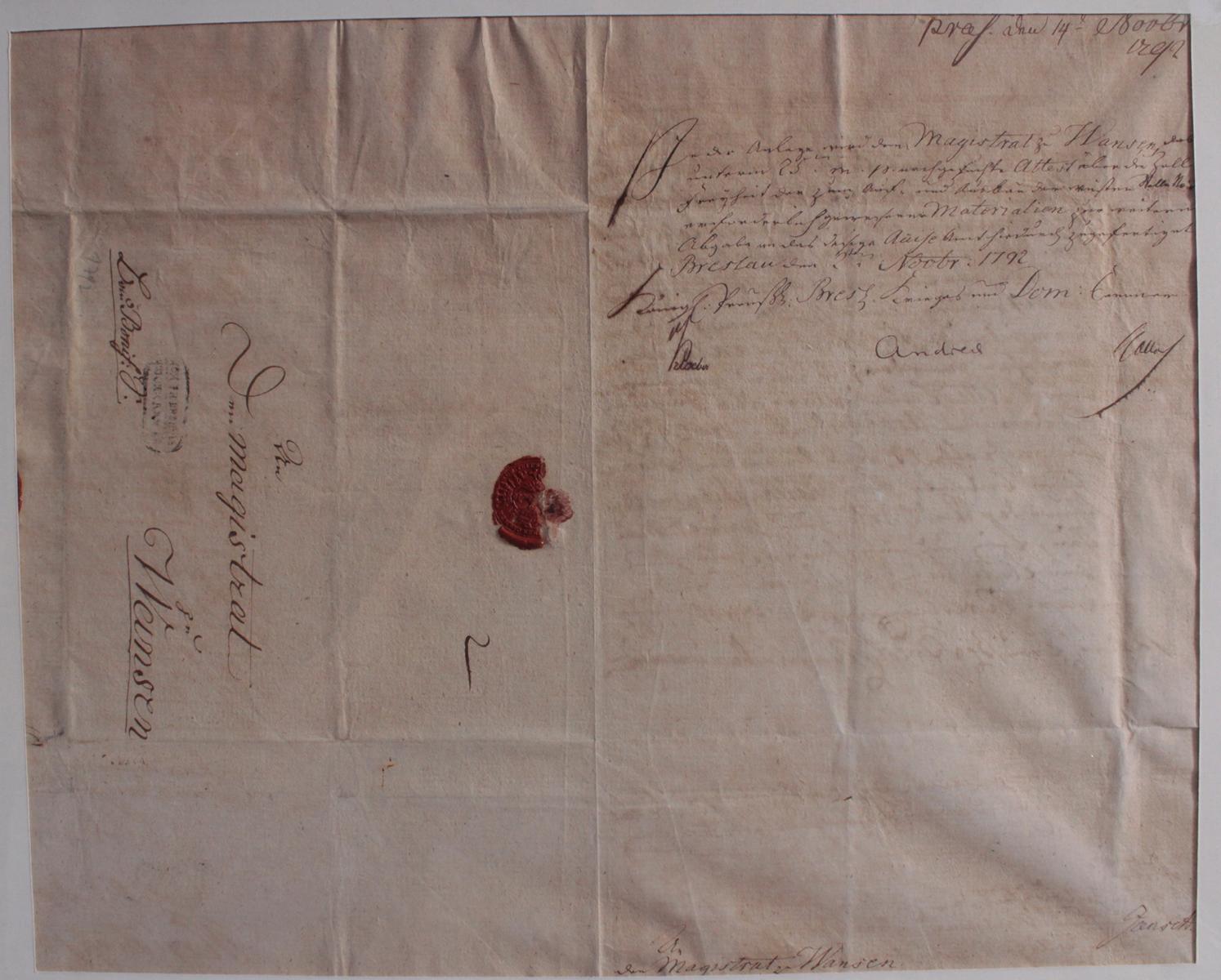Samlung Altbriefe, Vorphilatelie, Meisterbrief und Dokumente-4