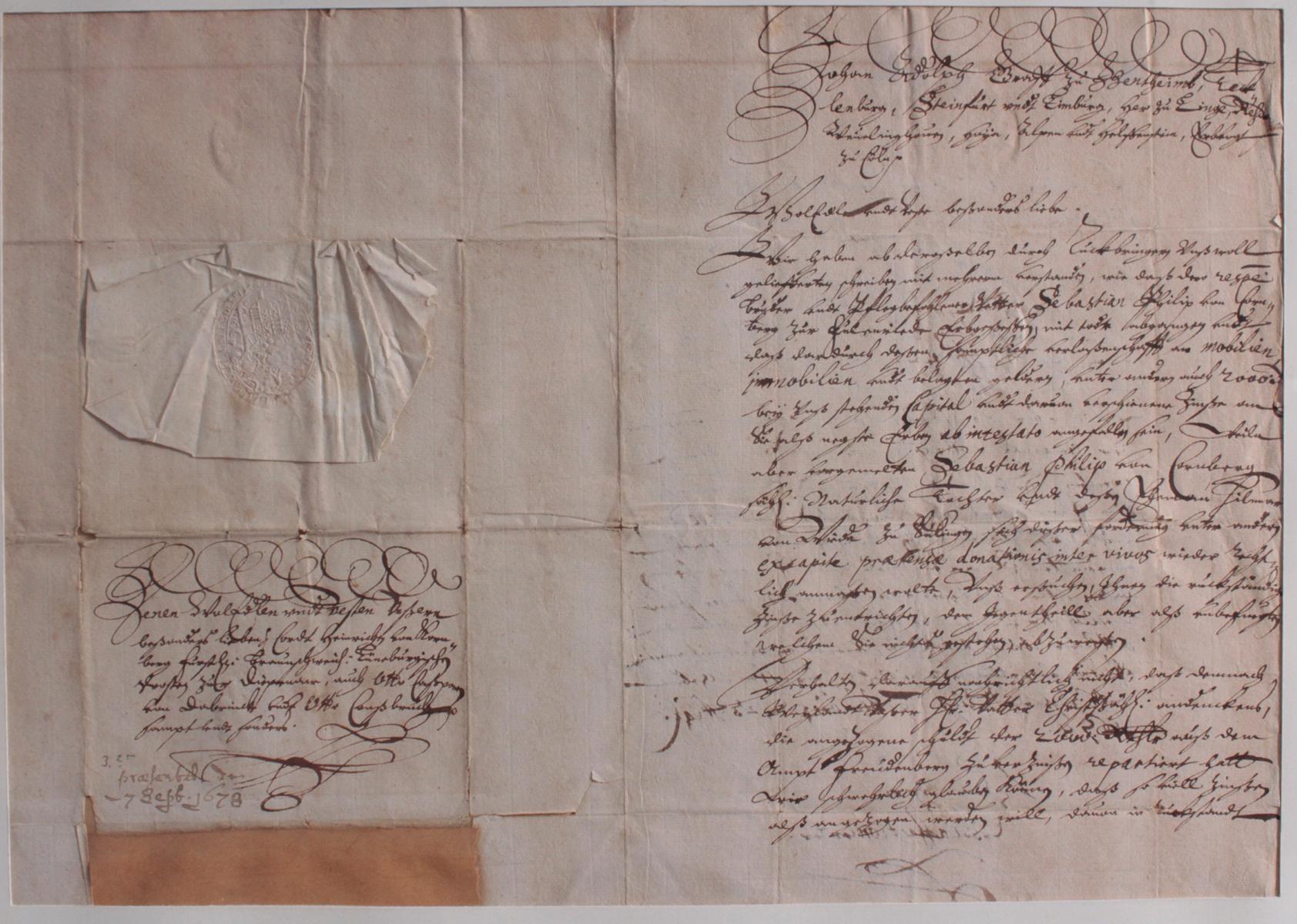 Samlung Altbriefe, Vorphilatelie, Meisterbrief und Dokumente-5