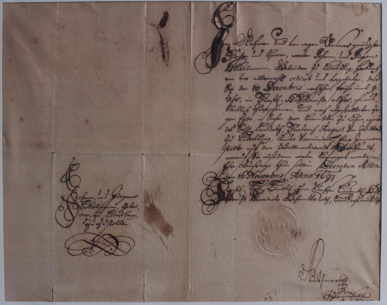 Samlung Altbriefe, Vorphilatelie, Meisterbrief und Dokumente-6