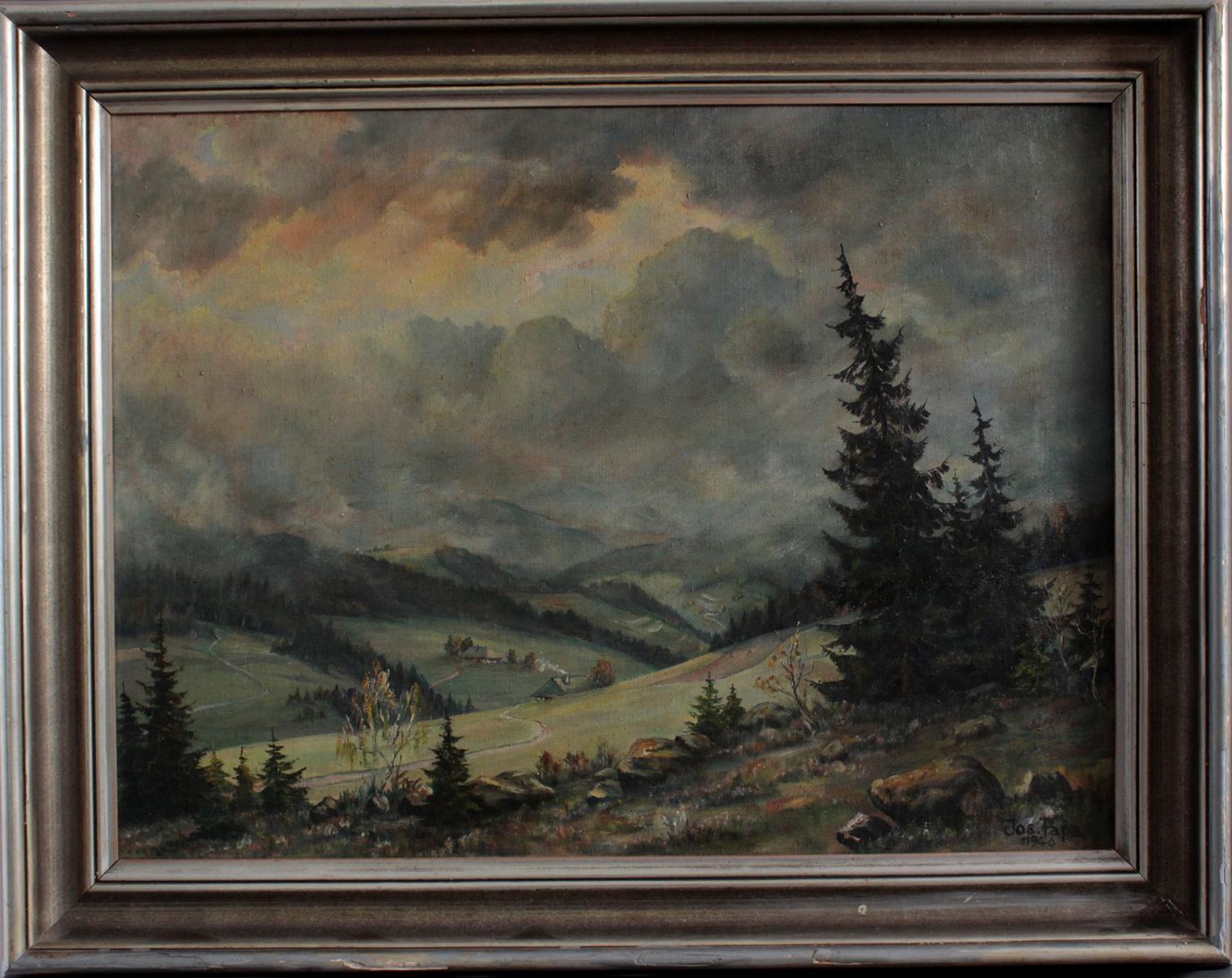 Johann Papa 1910-1988. Sommerliche Schwarzwaldlandschaft