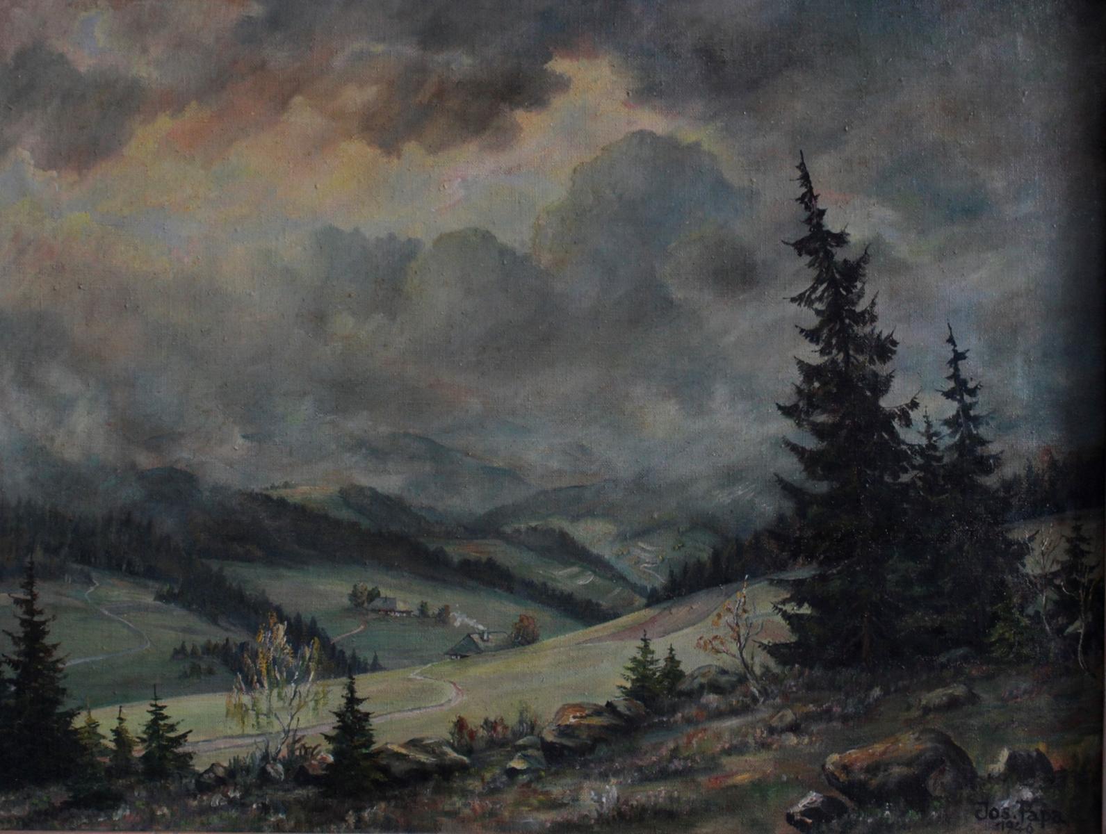 Johann Papa 1910-1988. Sommerliche Schwarzwaldlandschaft-2