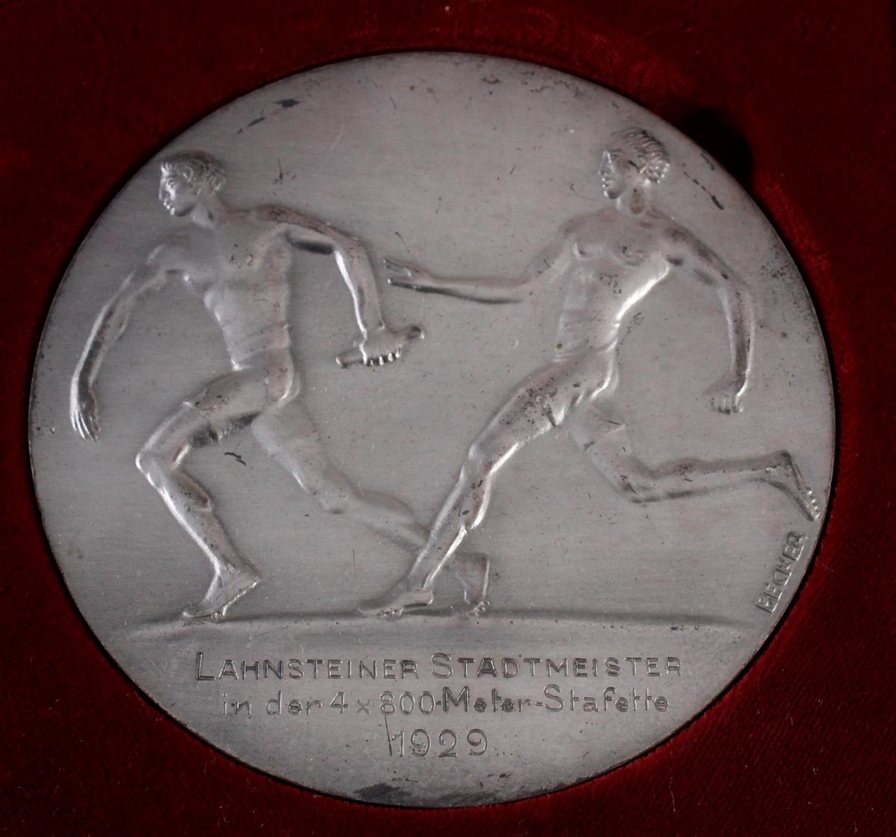 Medaille Thema Sport, Medailleur Becker 20er Jahre