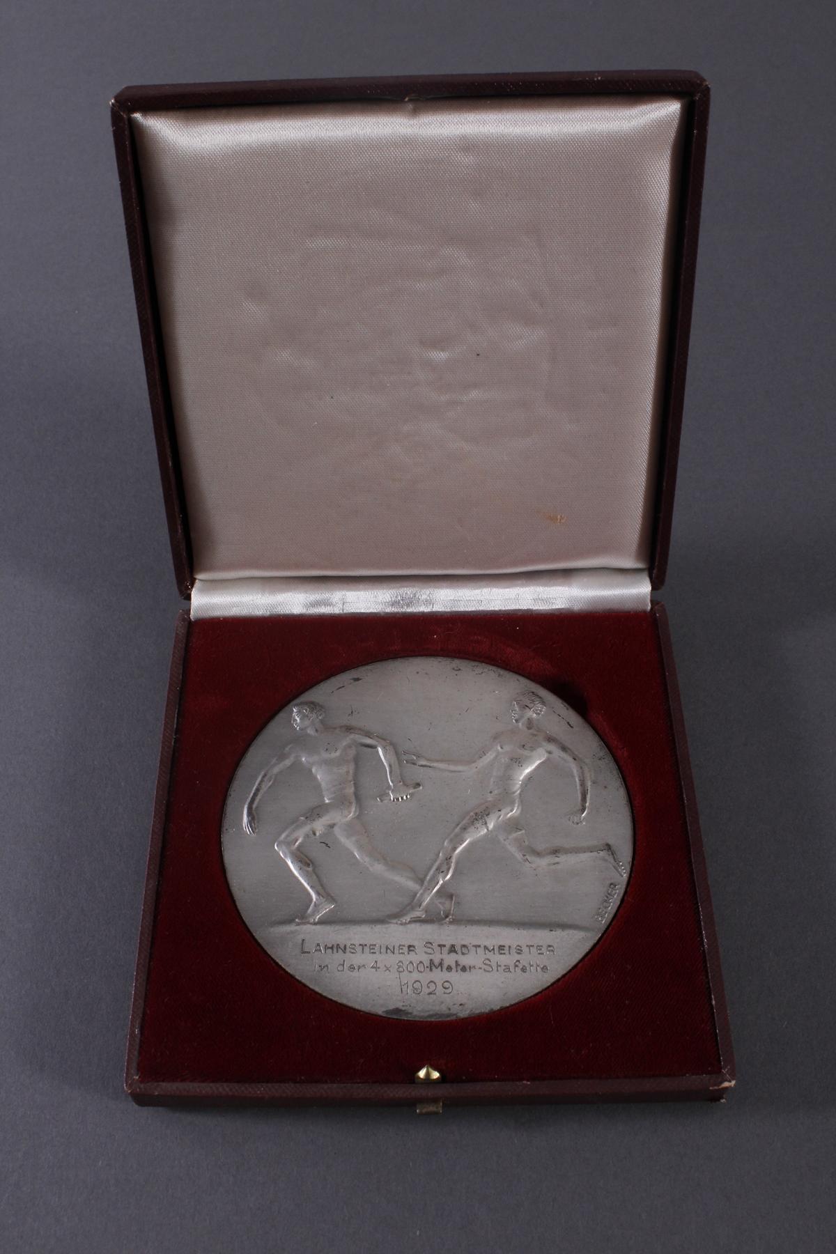 Medaille Thema Sport, Medailleur Becker 20er Jahre-2