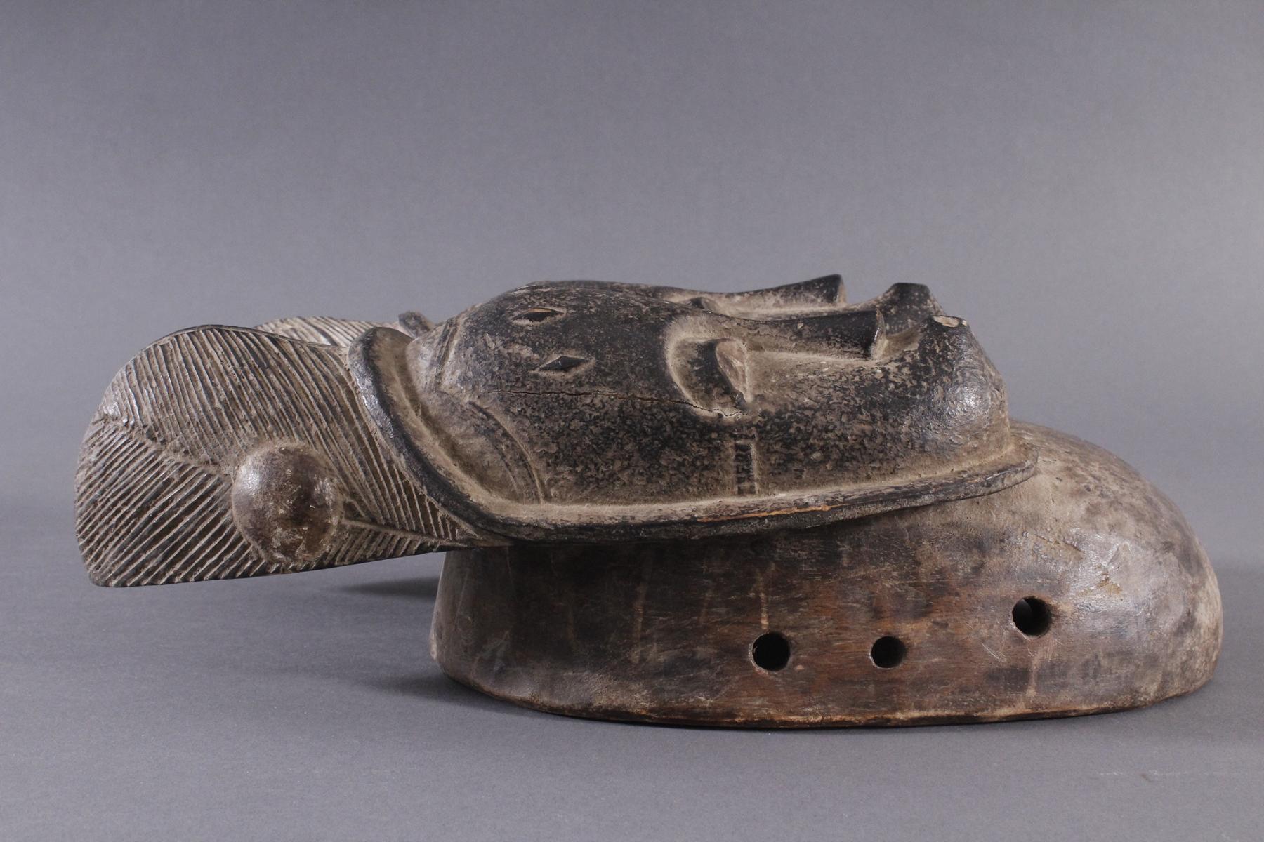 Antike Zwillingsmaske der Baule, Elfenbeinküste, 1. Hälfte 20. Jh.-2
