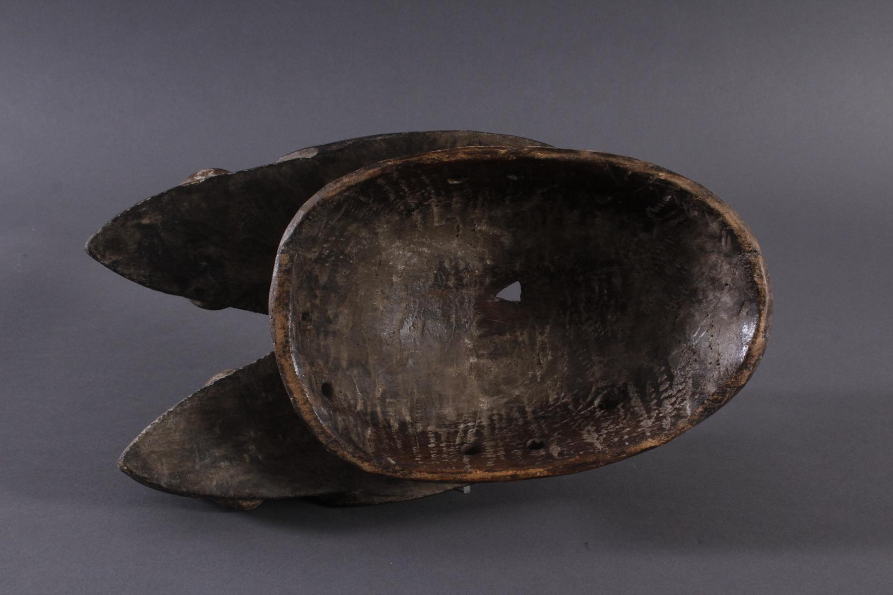 Antike Zwillingsmaske der Baule, Elfenbeinküste, 1. Hälfte 20. Jh.-6