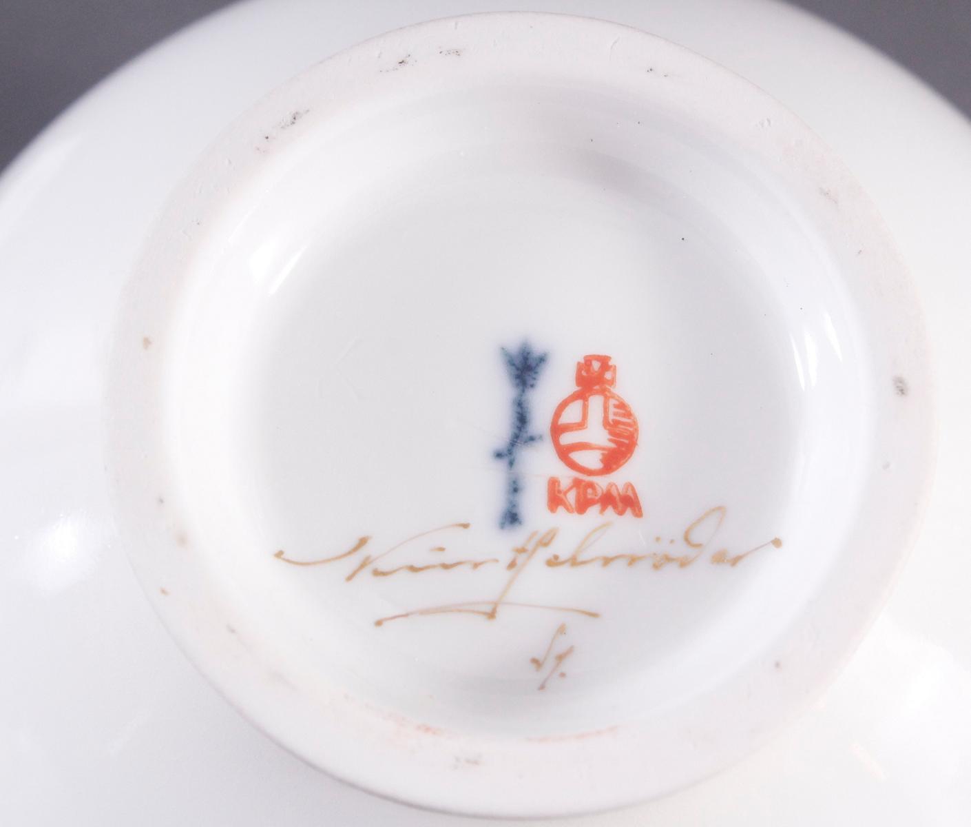 Kleine Vase, KPM Berlin, signiert Kurt Schröder-3