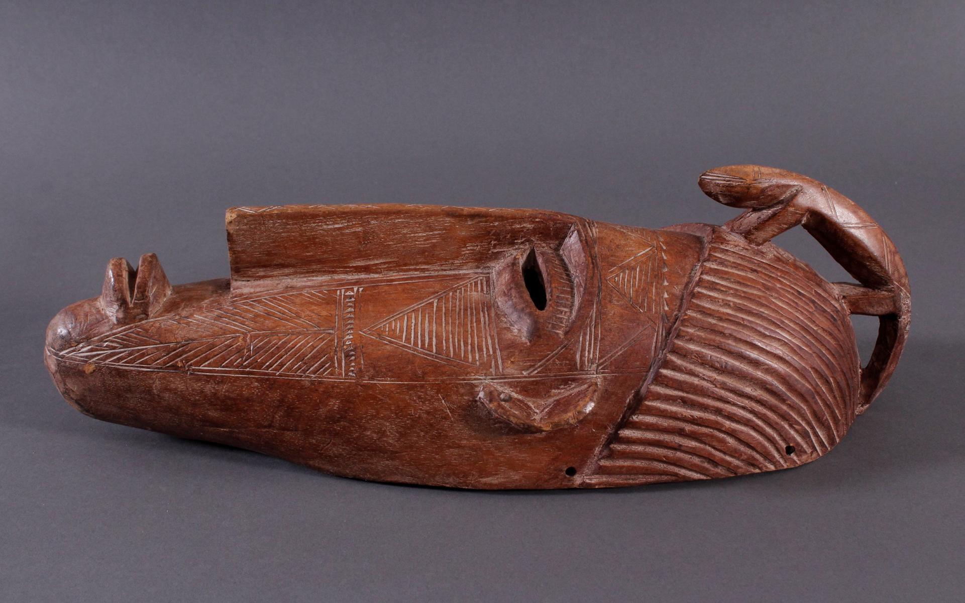 Maske der Bambara, Mali 1. Hälfte 20. Jh.-3