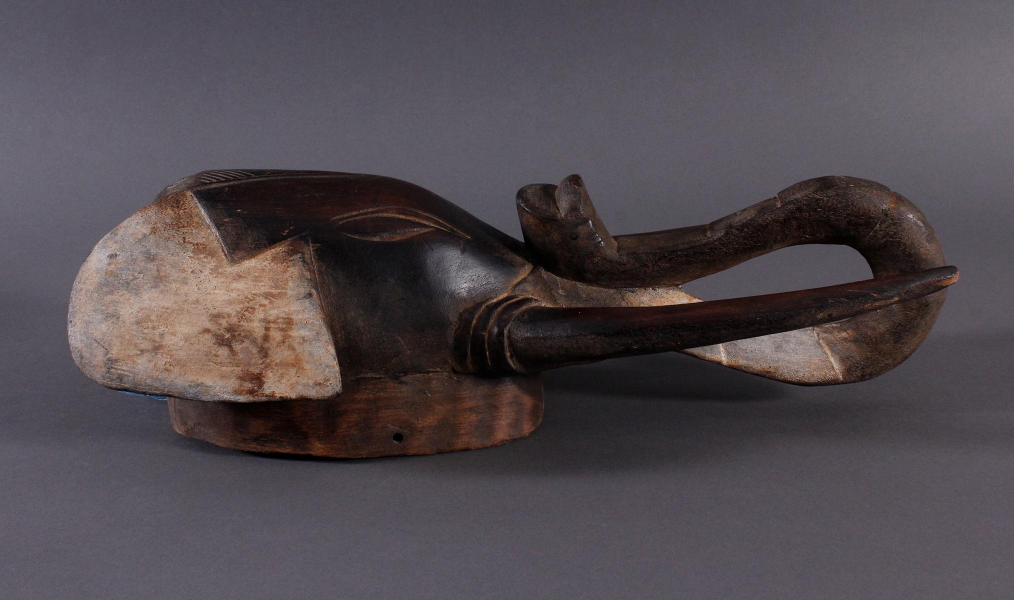 Antike Zoomorphe Maske, Elefant, Gouro-2