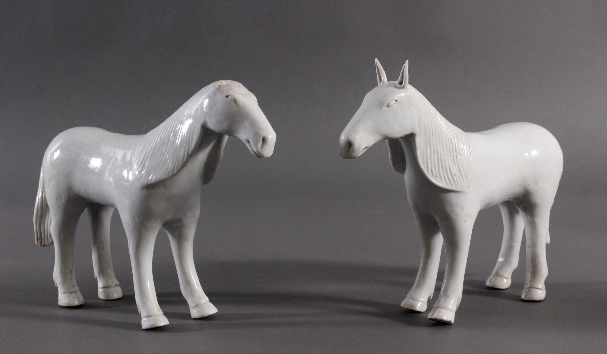 Paar Pferde, China 19. Jh.
