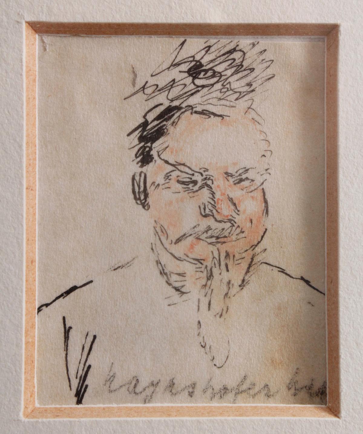 Max Mayrshofer 1875 – 1950. Karikatur eines älteren Mannes-2