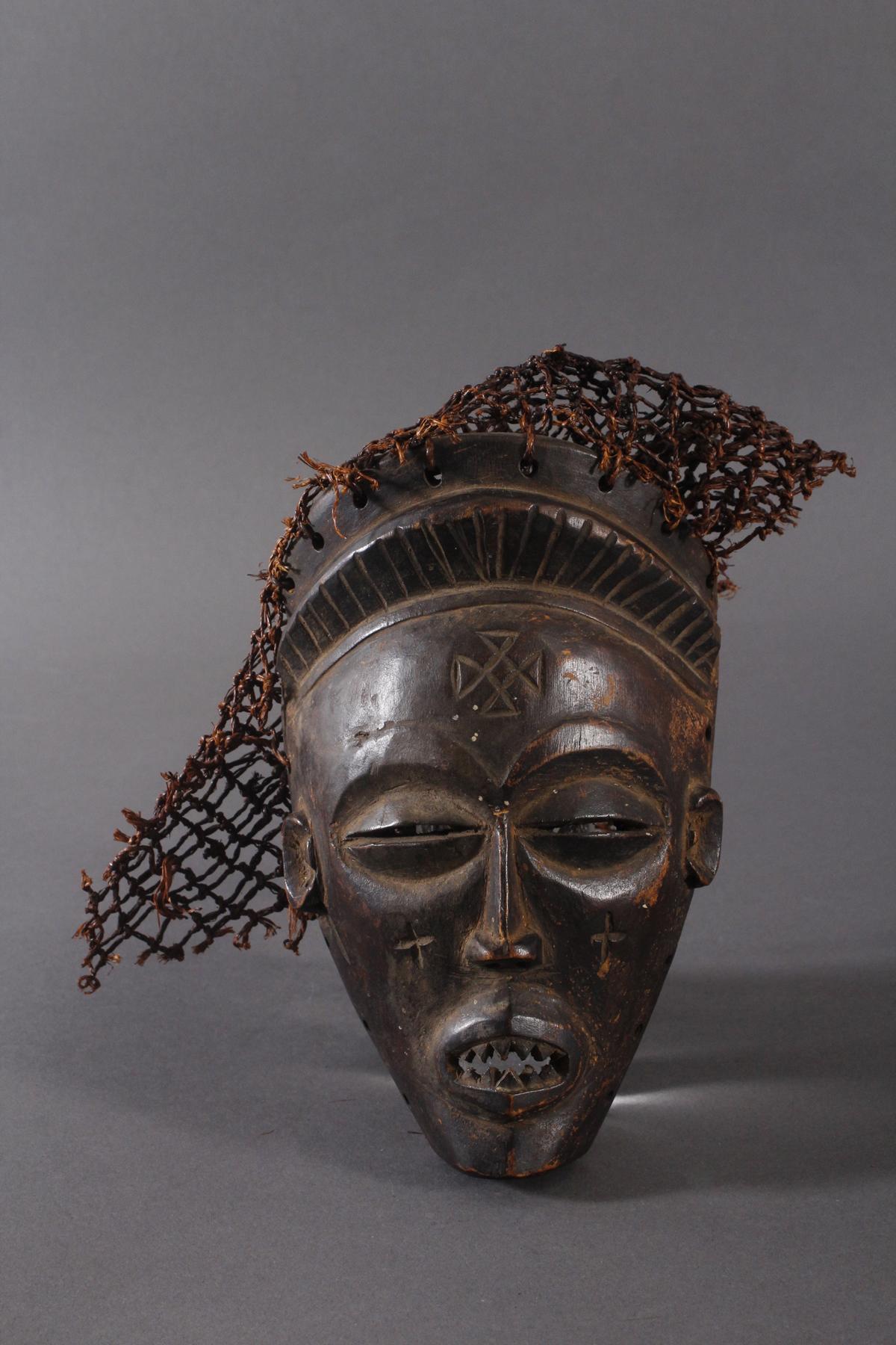 Antike Maske, Chokwe, Kongo