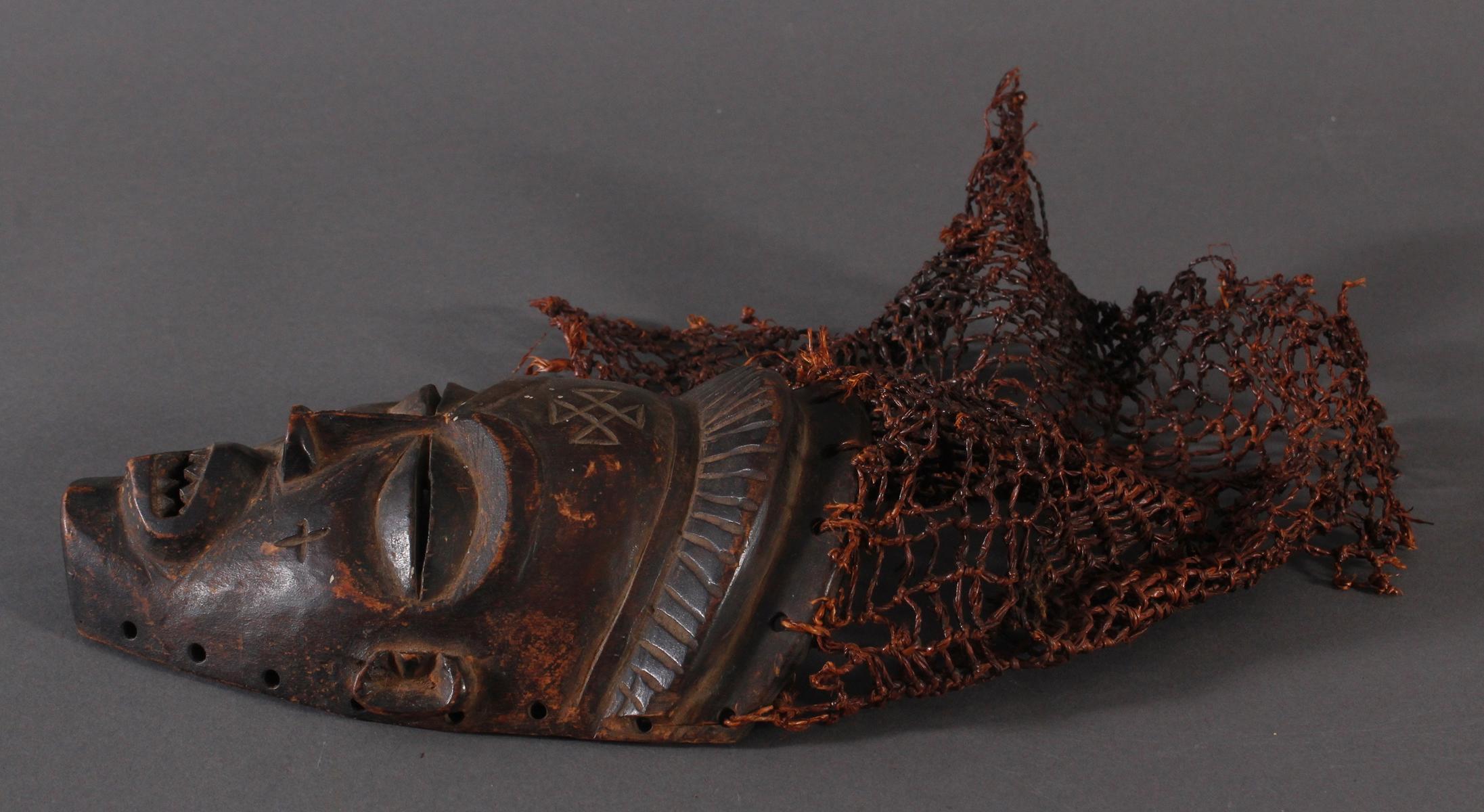 Antike Maske, Chokwe, Kongo-3