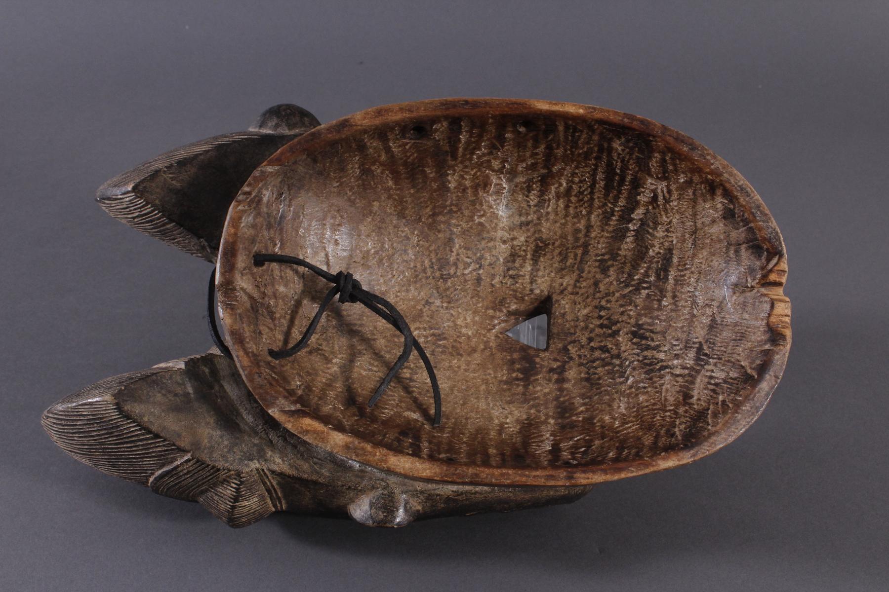 Antike Zwillingsmaske der Baule, Elfenbeinküste, 1. Hälfte 20. Jh.-4